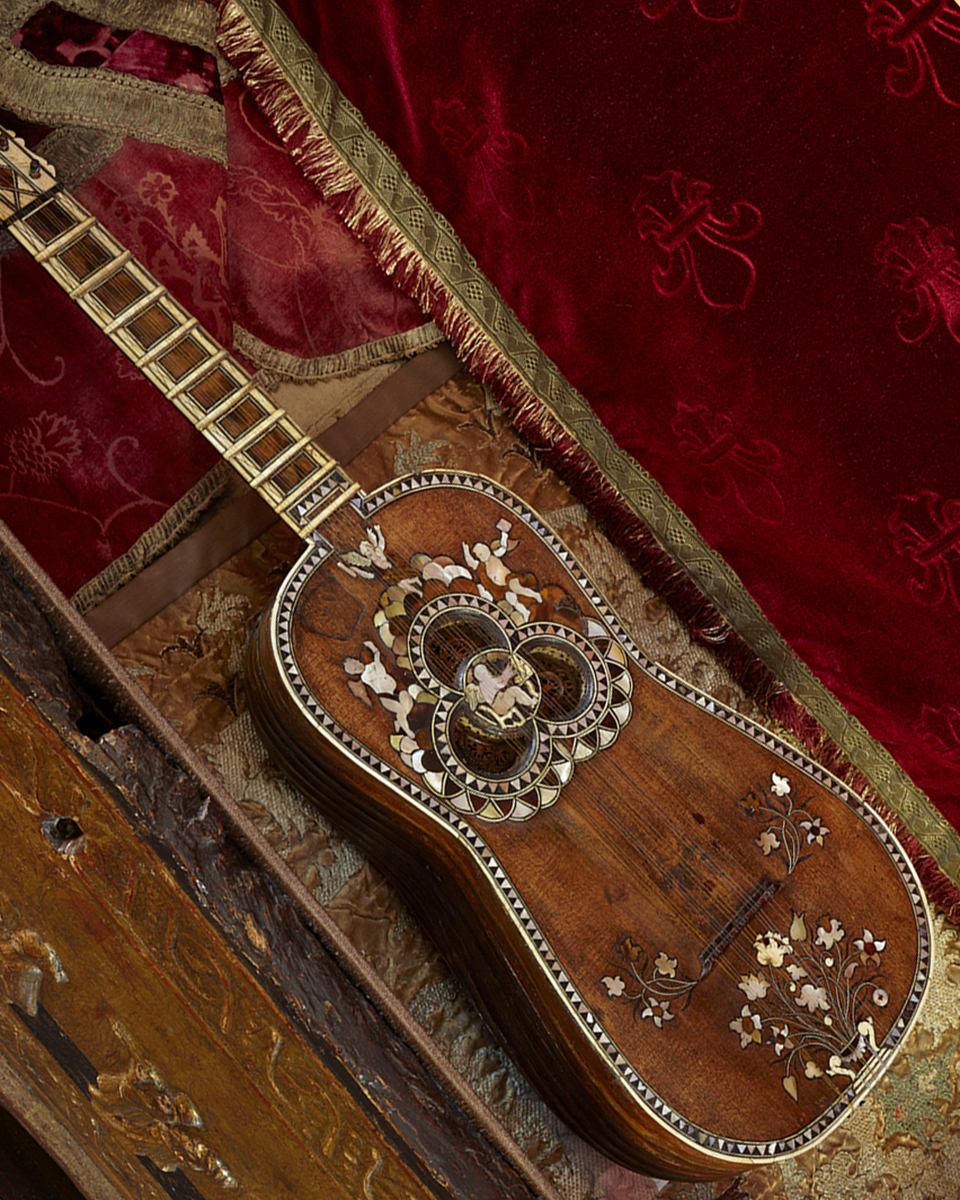 Guitar in the Raphael Room after treatment