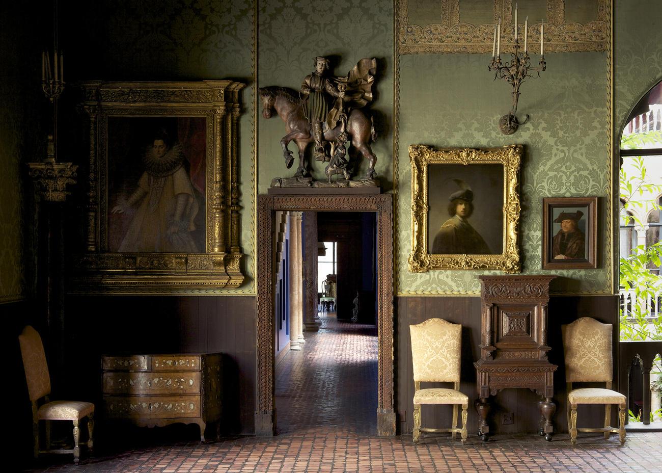 Dutch Room in Isabella Stewart Gardner Museum, Boston, MA, USA.