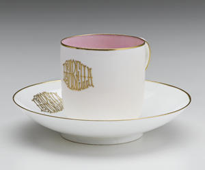 Minton Ceramics Manufactory (British, established 1796), Cup and Saucer: Isabella, 1884
