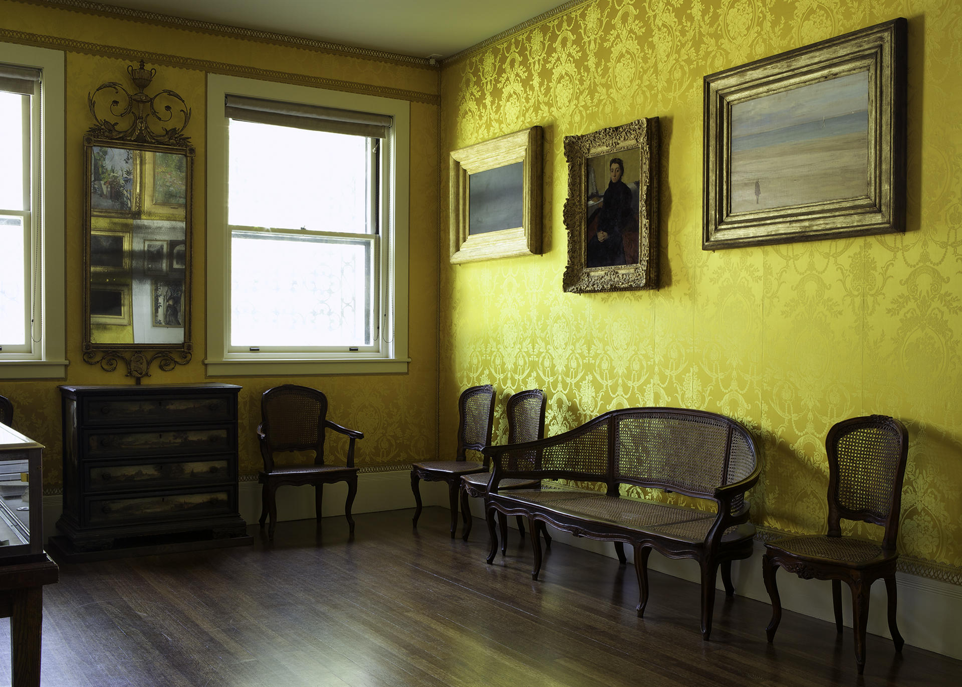 Italian, Parma, Caned Furniture, 2nd half of the 18th century in the Yellow Room Photo: Sean Dungan