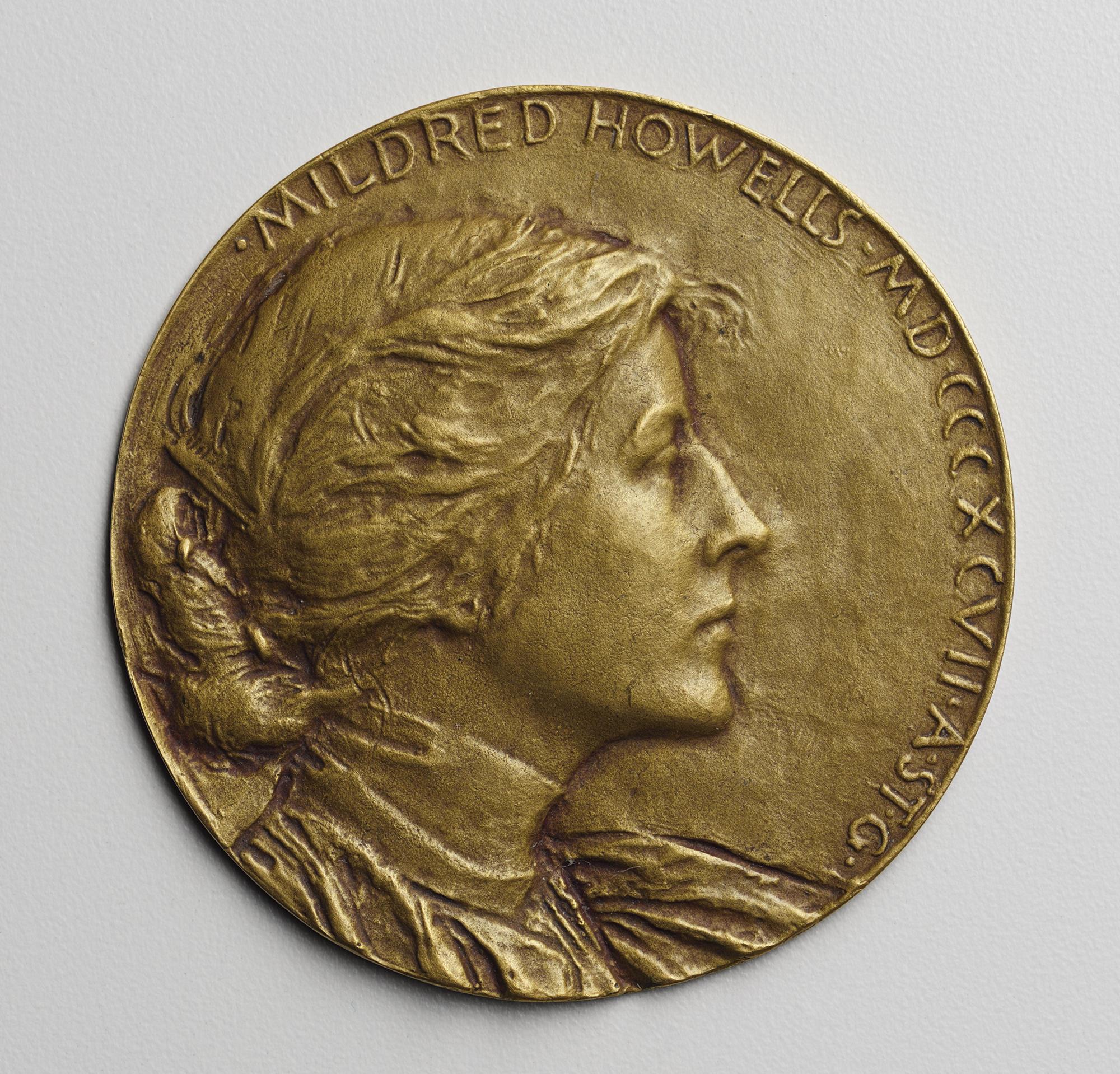 Augustus Saint-Gaudens (American, 1848-1907), Medallion of Mildred Howells (1873-1966), 1897
