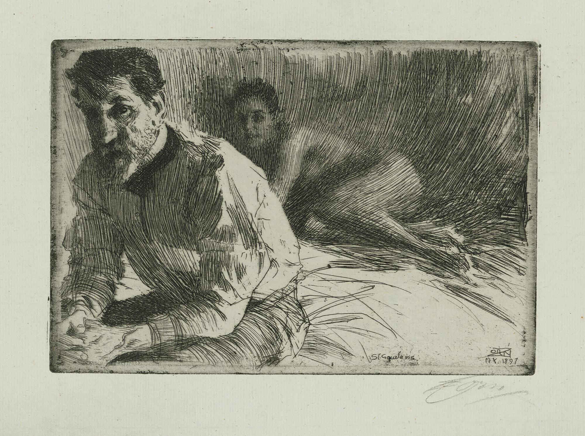 Anders Zorn (Swedish, 1860-1920), Augustus Saint-Gaudens II, 1897