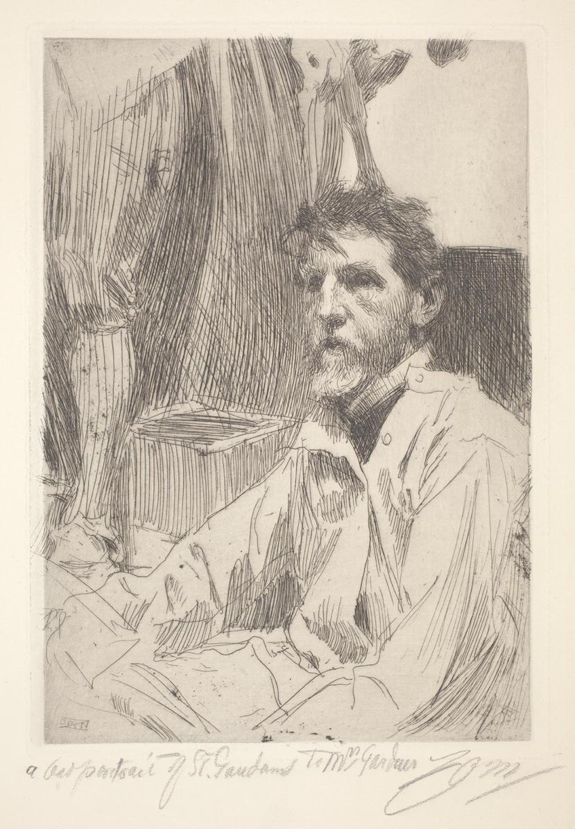 Anders Zorn (Swedish, 1860-1920), Augustus Saint-Gaudens I, 1897.