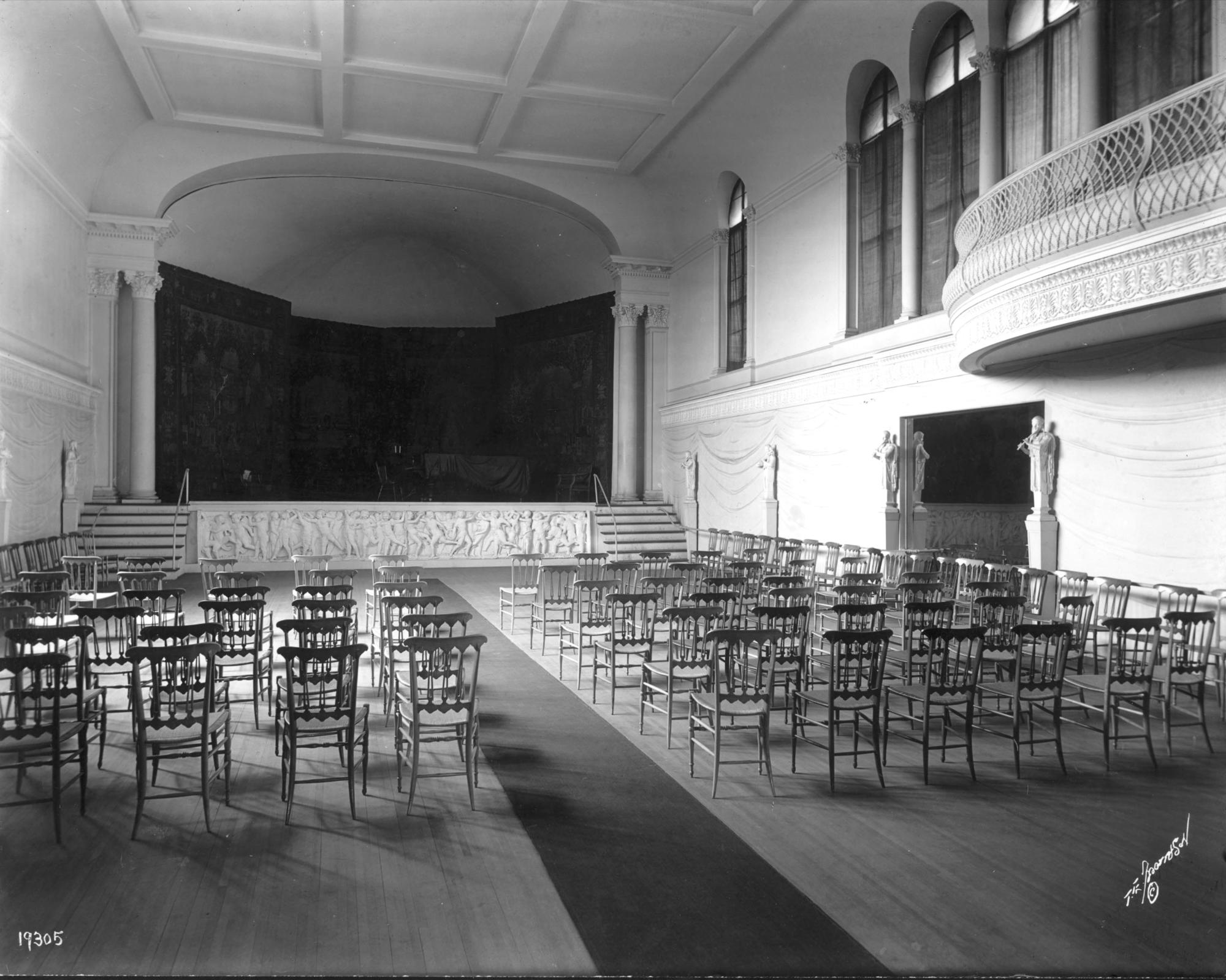 Music Room, Fenway Court, 1914. Thomas E. Marr & Son (active Boston, about 1875-1954)
