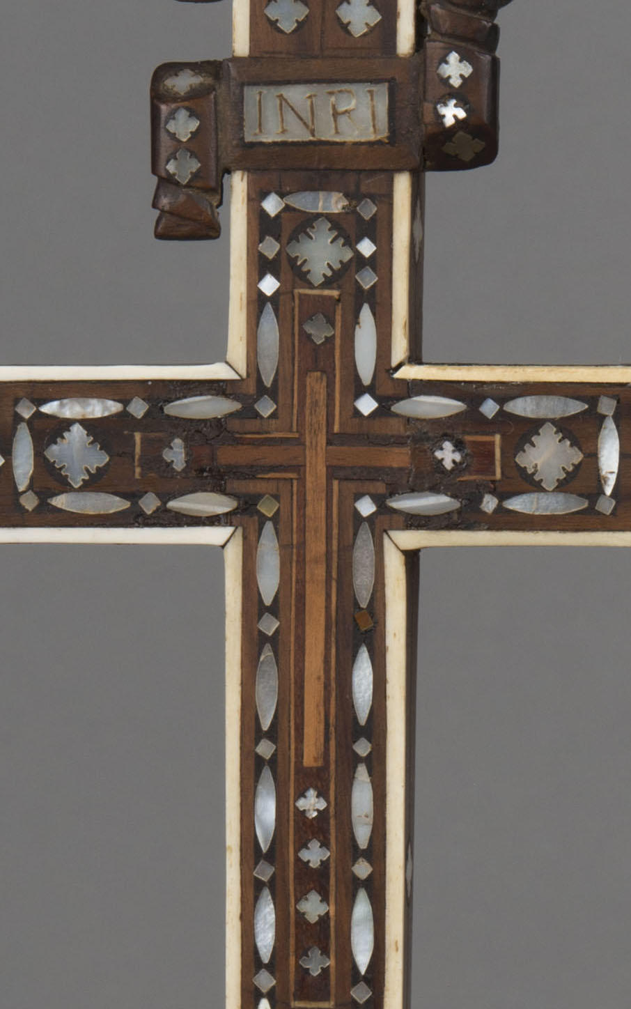 Italian, Venice, Cross, 17th century, showing a detail of the inlays