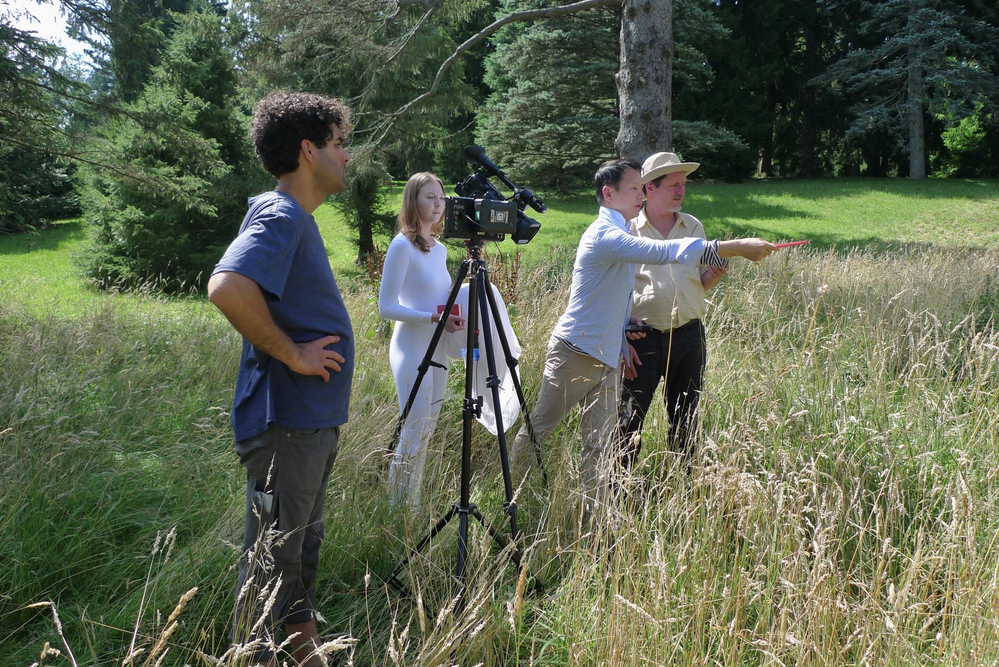 Shen Wei directing at the Arnold Arboretum of Harvard University