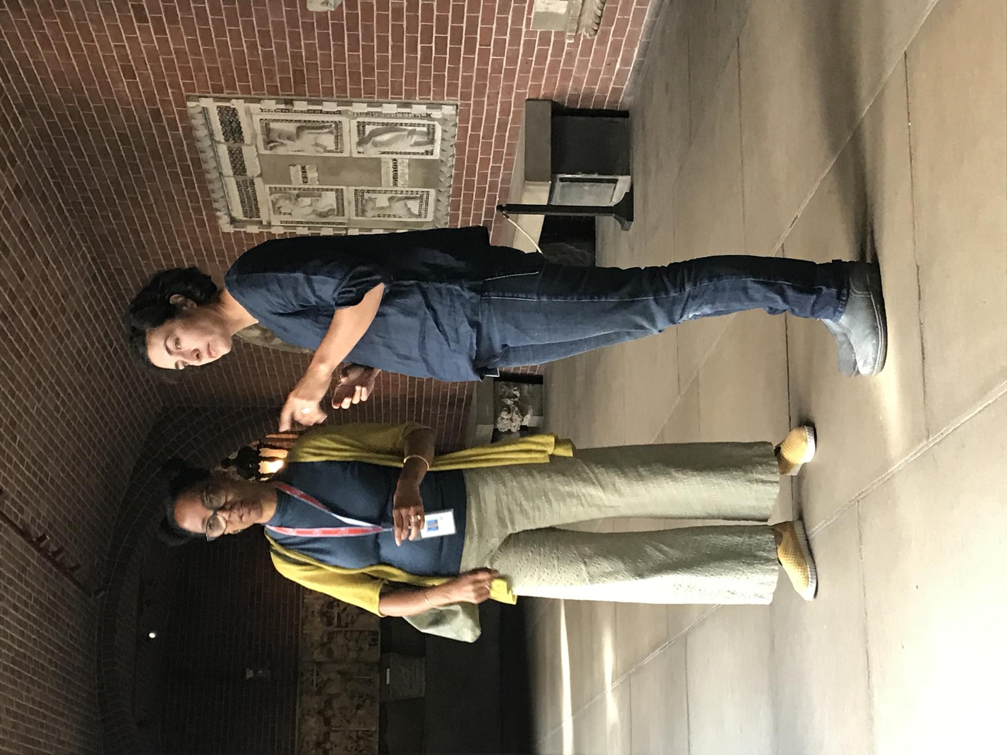 Sonya Clark and Erika Rumbley, Horticulturist at the Museum and Prison Horticulture Educator talk about plants in the Courtyard, 2019