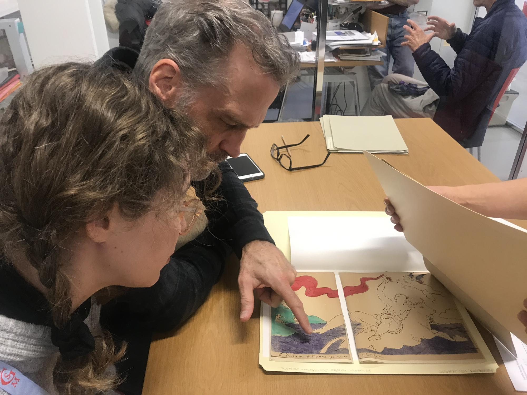 Mary and Patrick Kelley were delighted to view two copies of L'Eco, an art magazine  printed in 1916