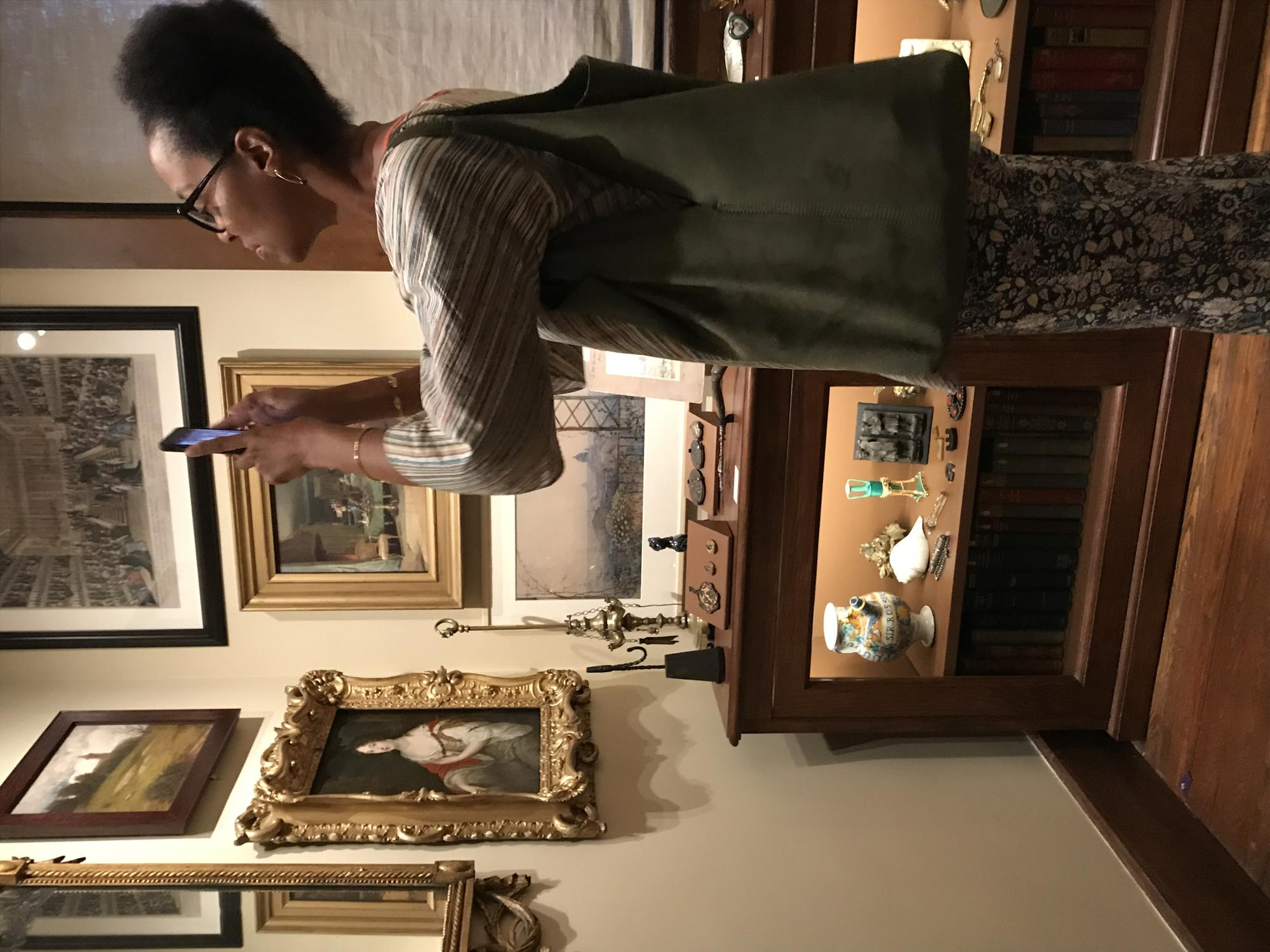 Sonya Clark in the galleries, 2019