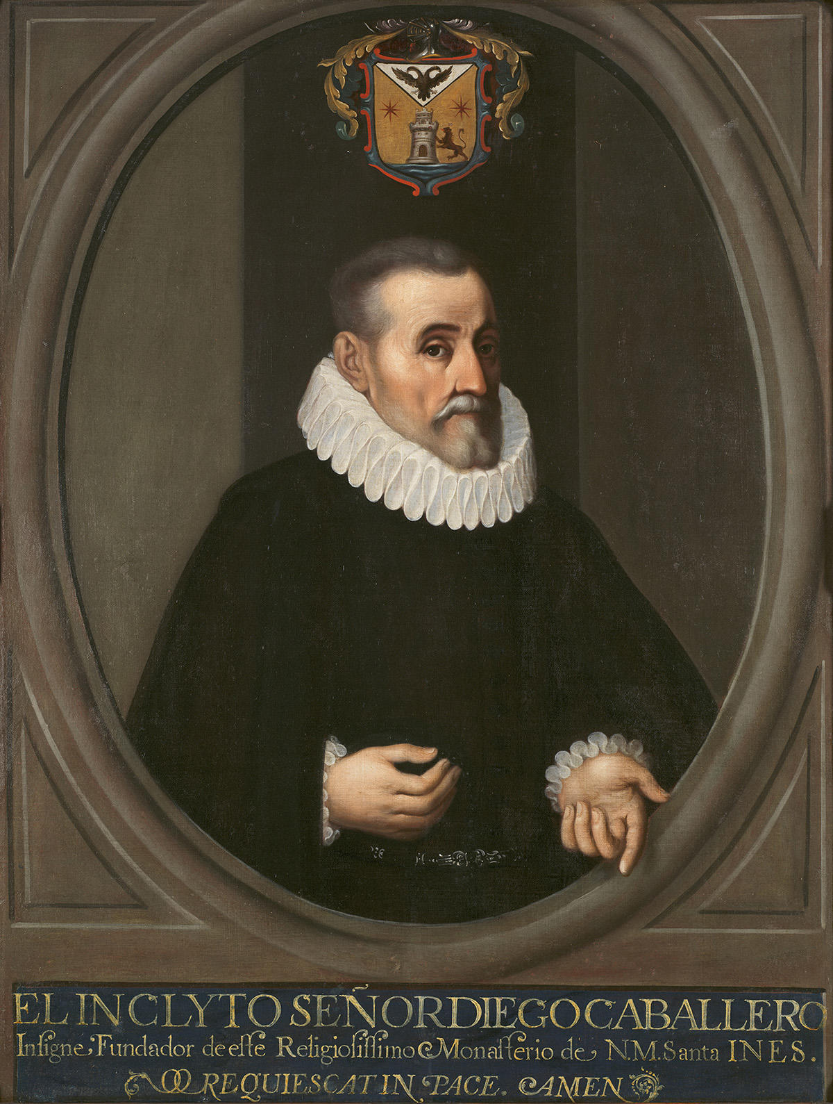 Oil painting of Don Diego Caballero