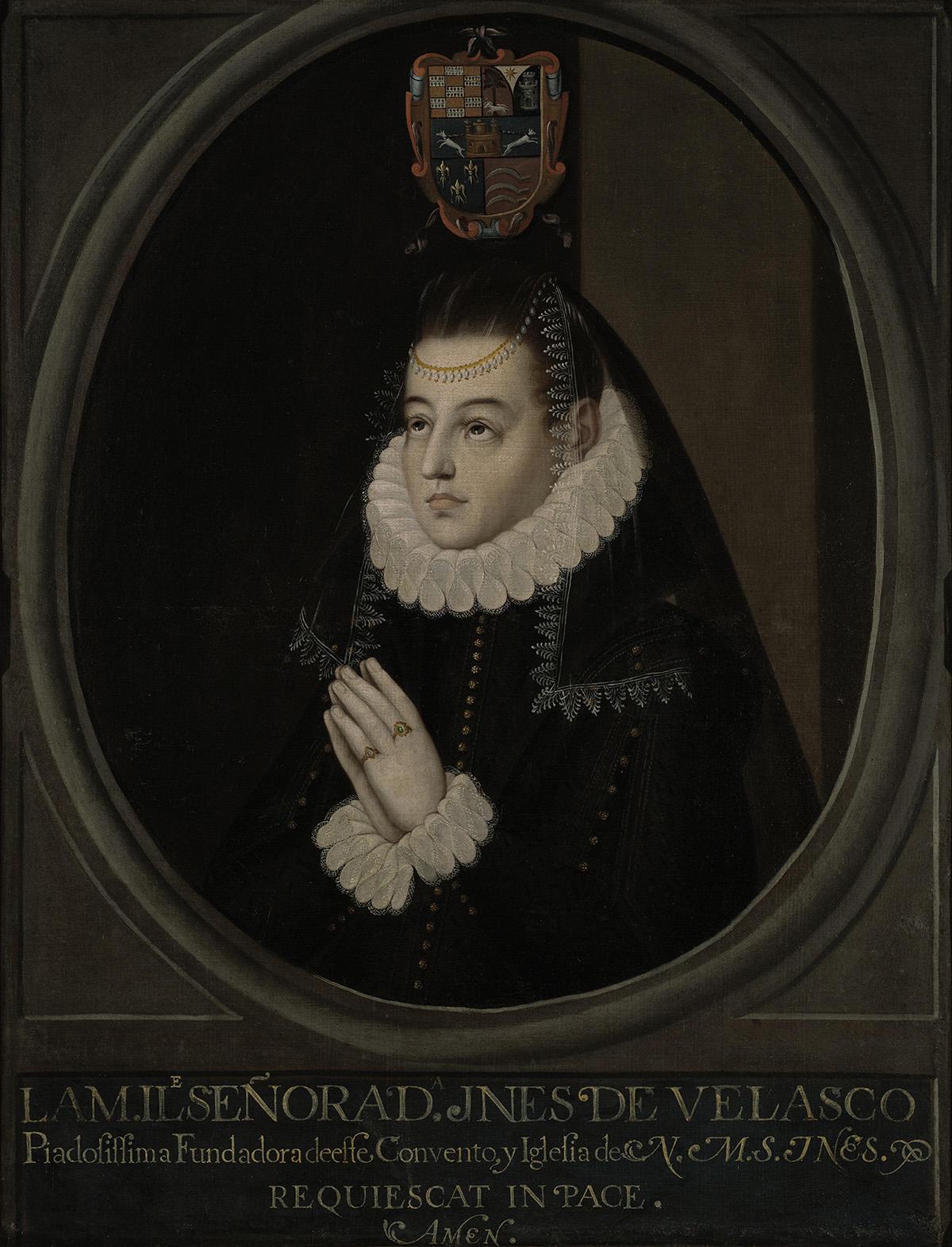 Oil painting of Doña Inés De Velasco (17th century)