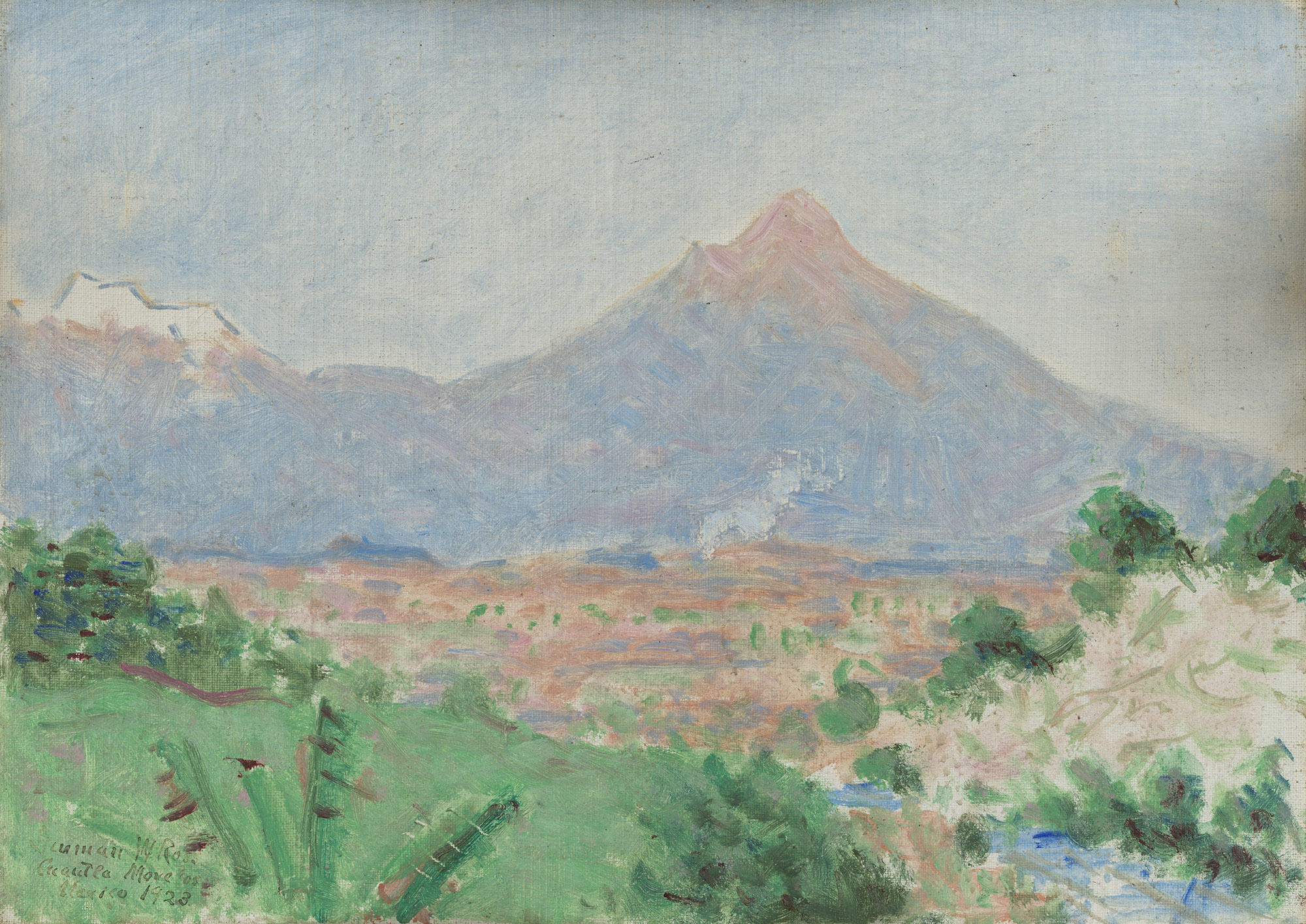 A View of Popocatépetl from Cuautla by Denman Waldo Ross