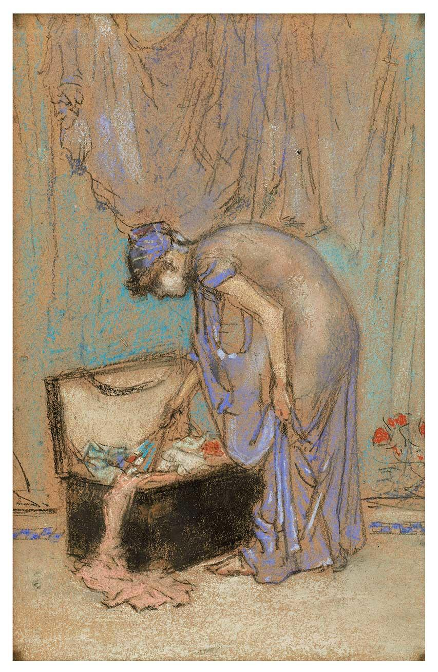 The Violet Note. A painting by James McNeill Whistler.