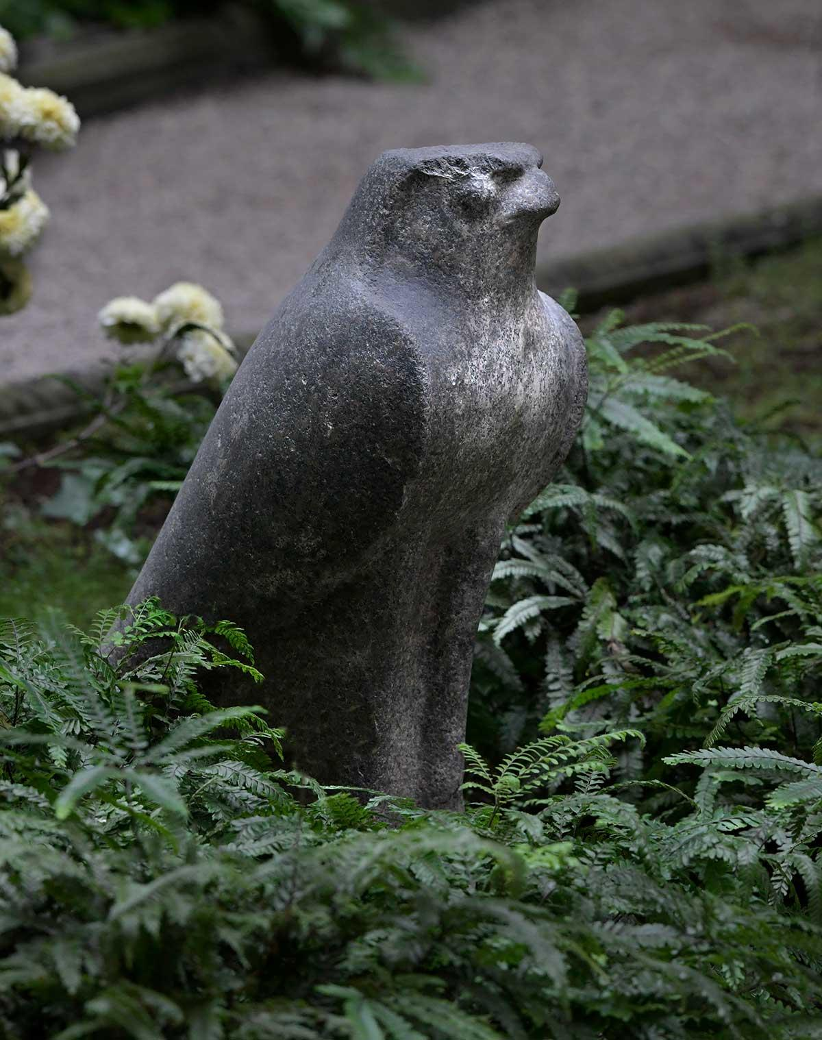 Sculpture of Egyptian, Ptolemaic, Horus Hawk