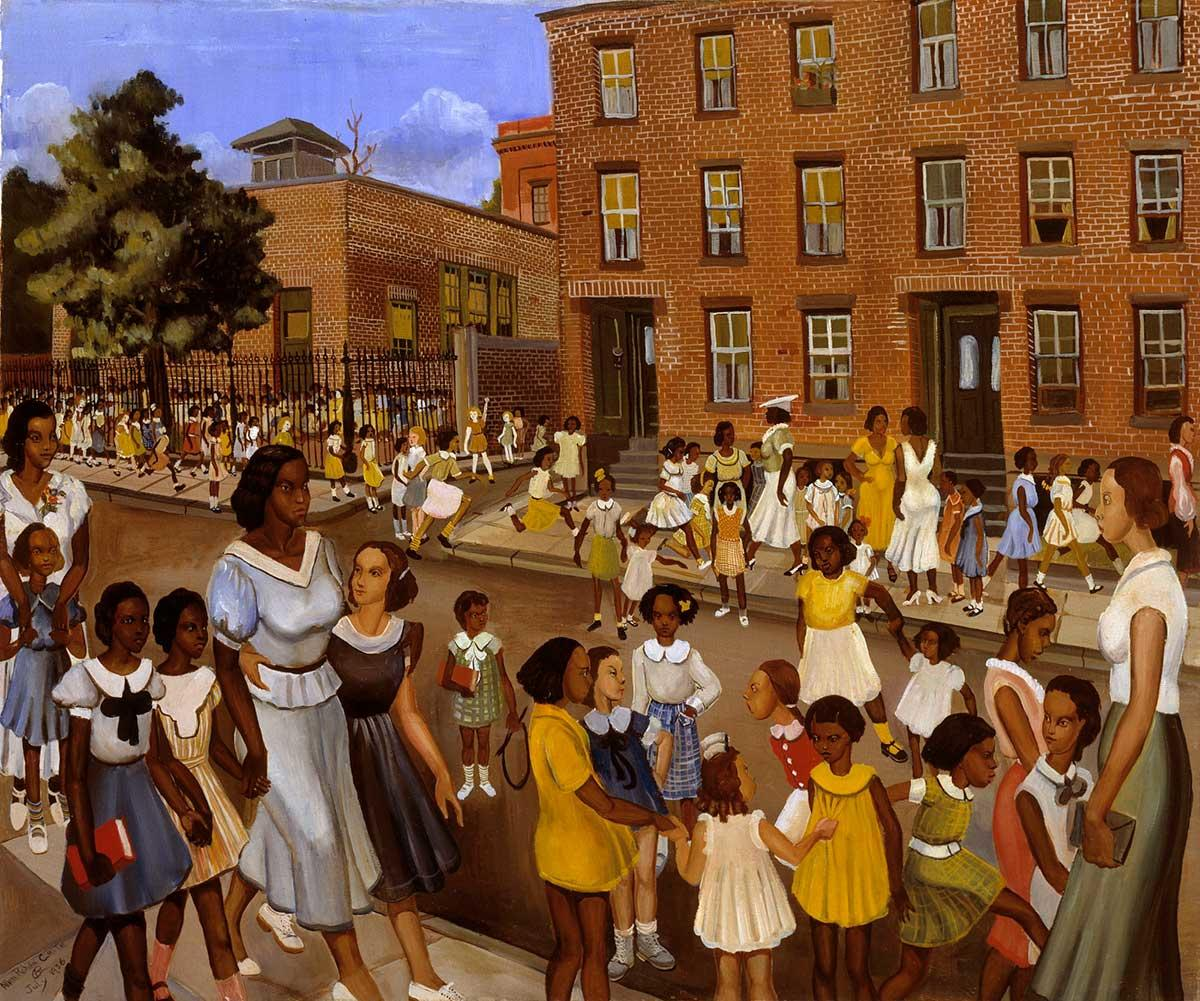 School's Out, a painting by Allan Rohan Crite