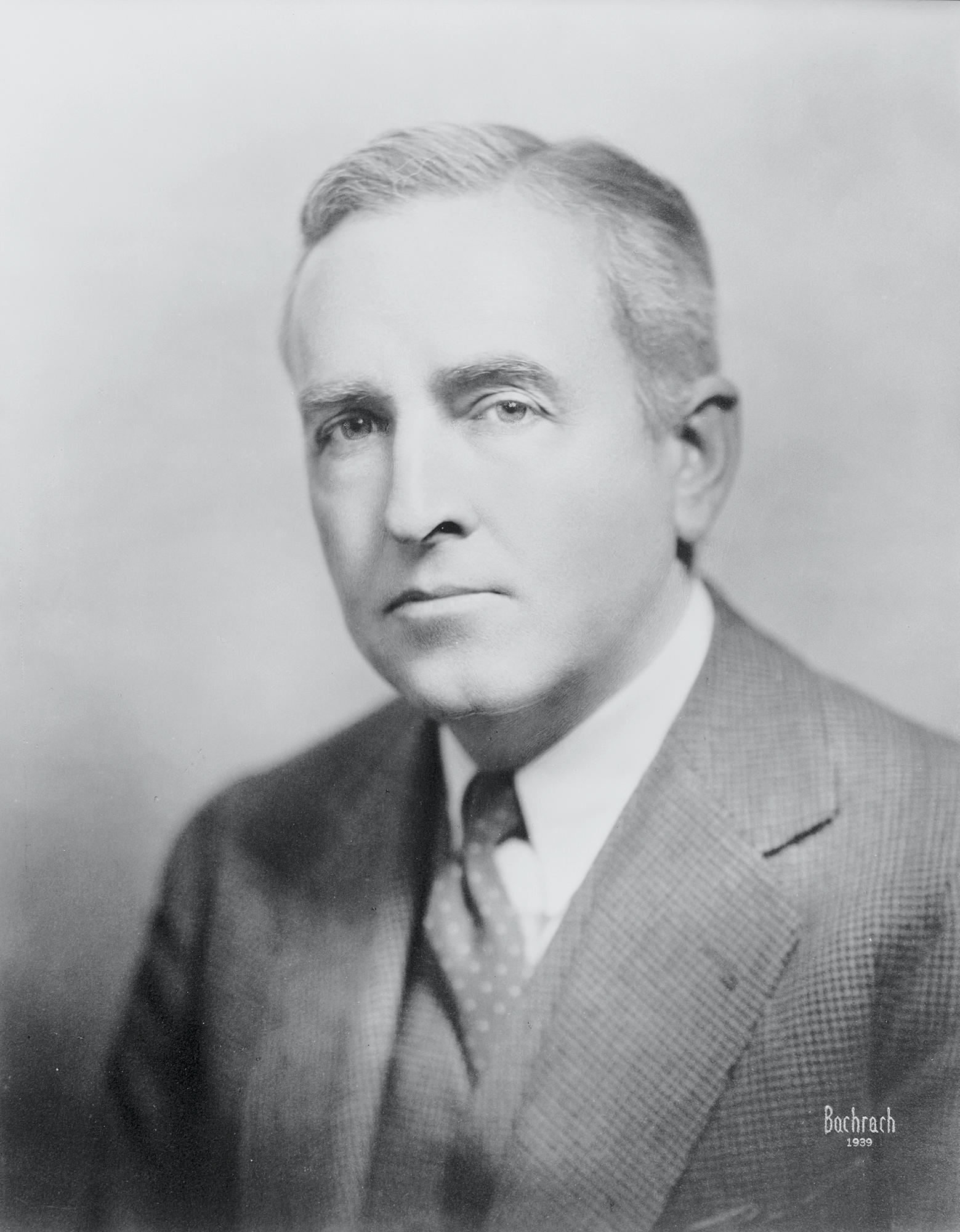 A black and white image of Arthur Pope