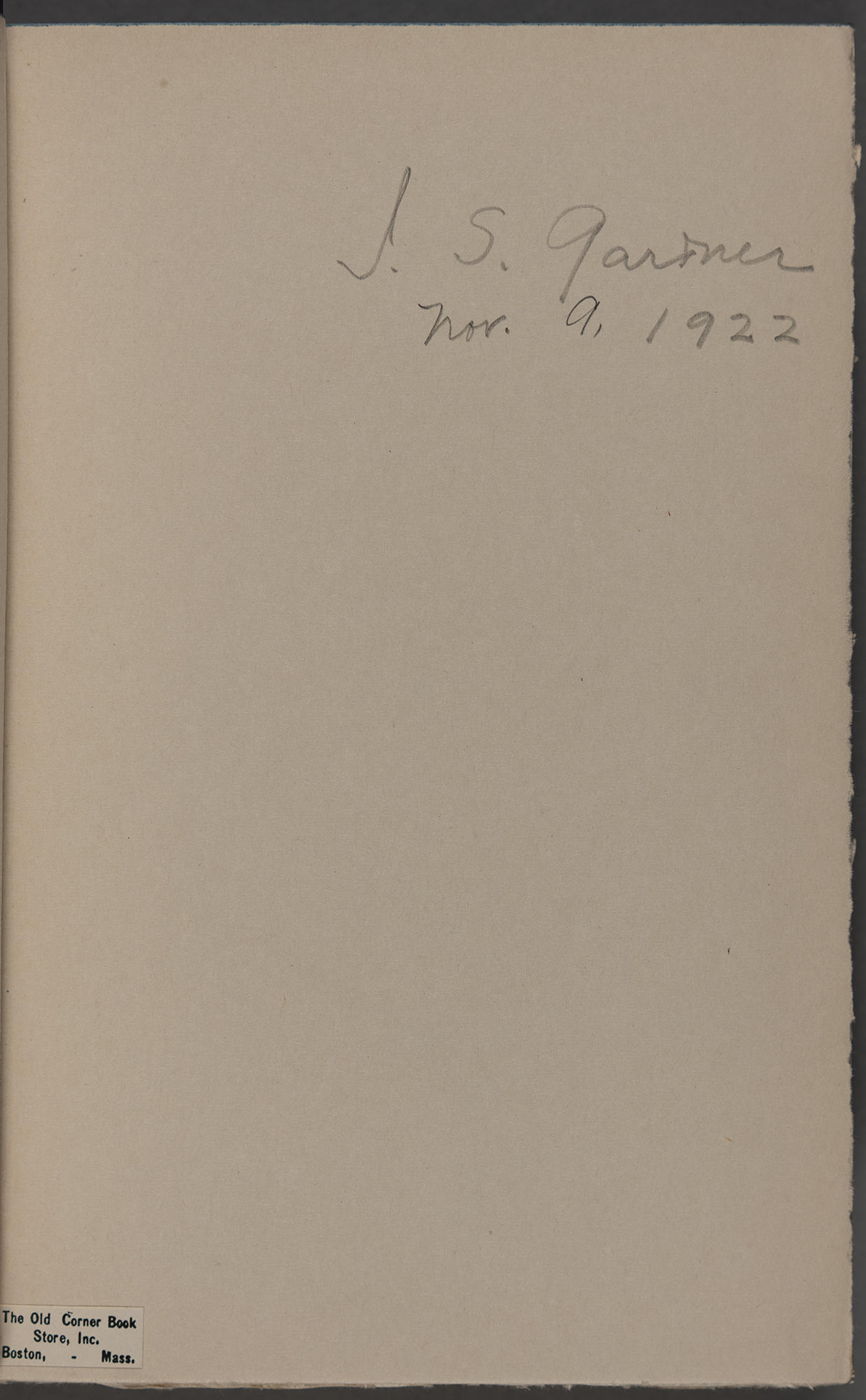 """Isabella Stewart Gardner's signature in the book """"Forty Years of Diplomacy"""""""