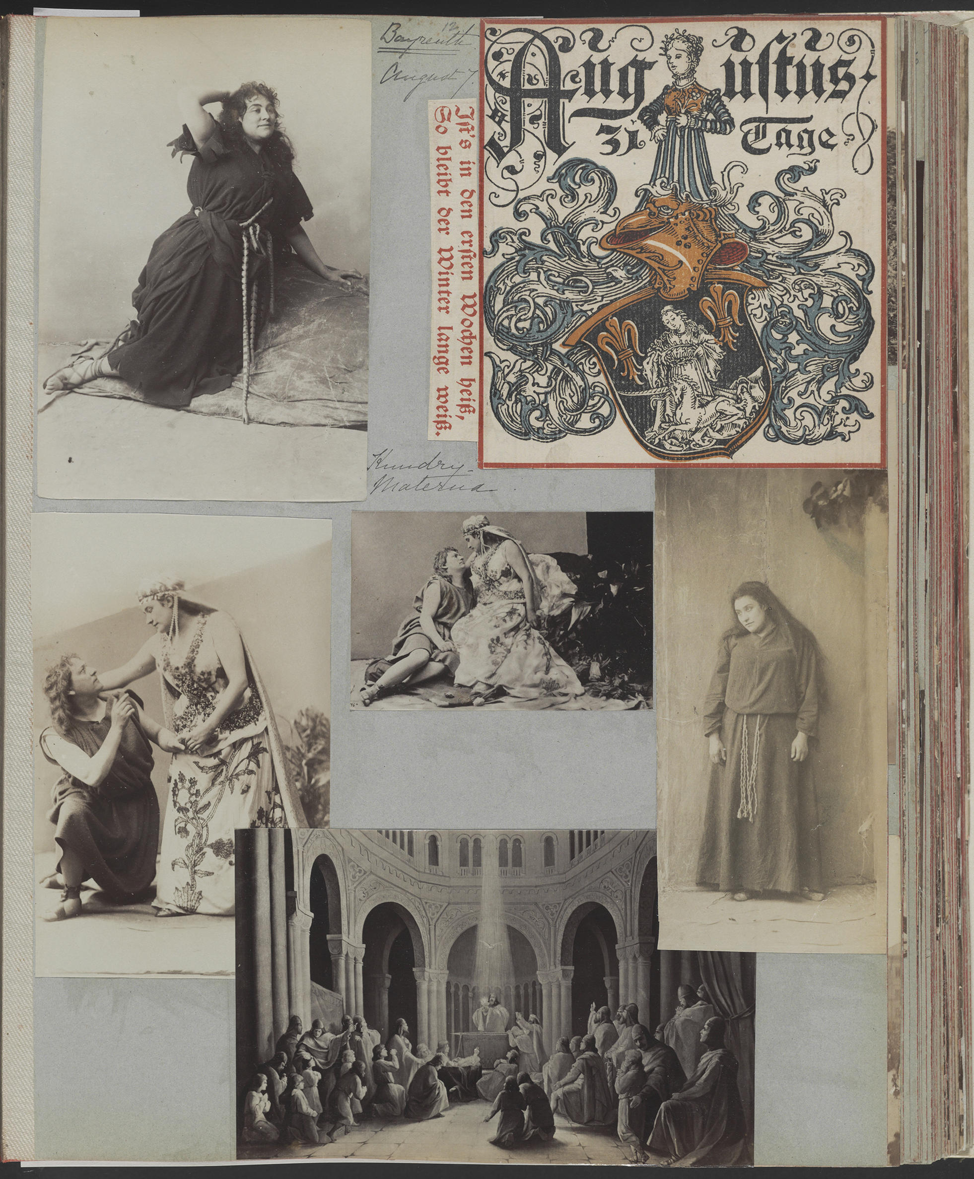 A scrapbook page with many photos of Germany.
