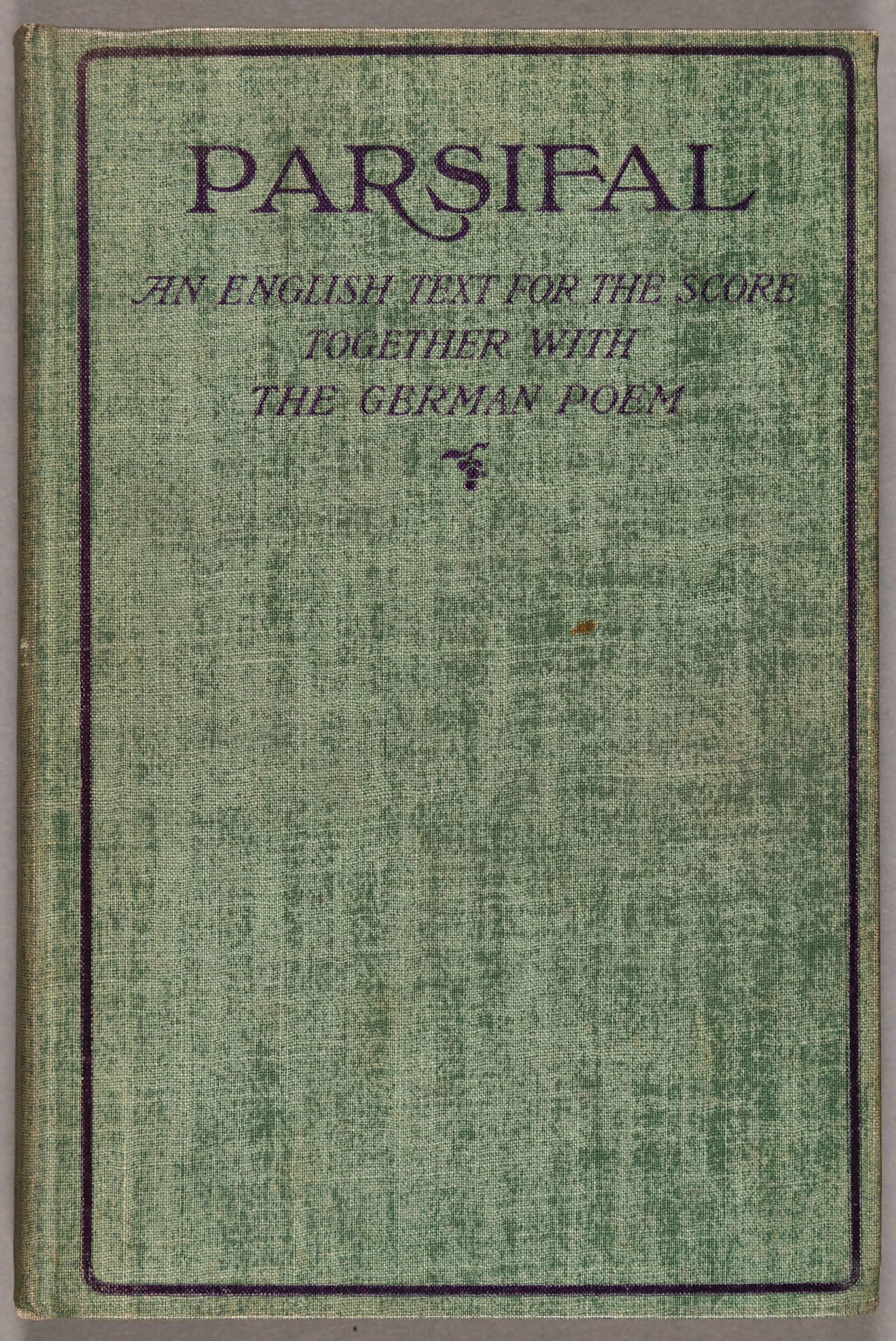 Parsival cover from 1903.