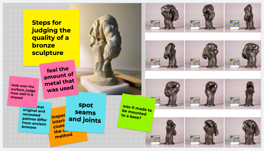 Steps for Judging the quality of a bronze sculpture image with the grey jaguar statue.