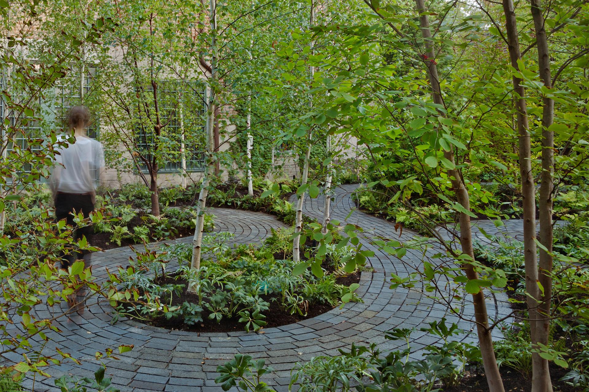 Exterior Monk's Garden at the Isabella Stewart Gardner Museum.