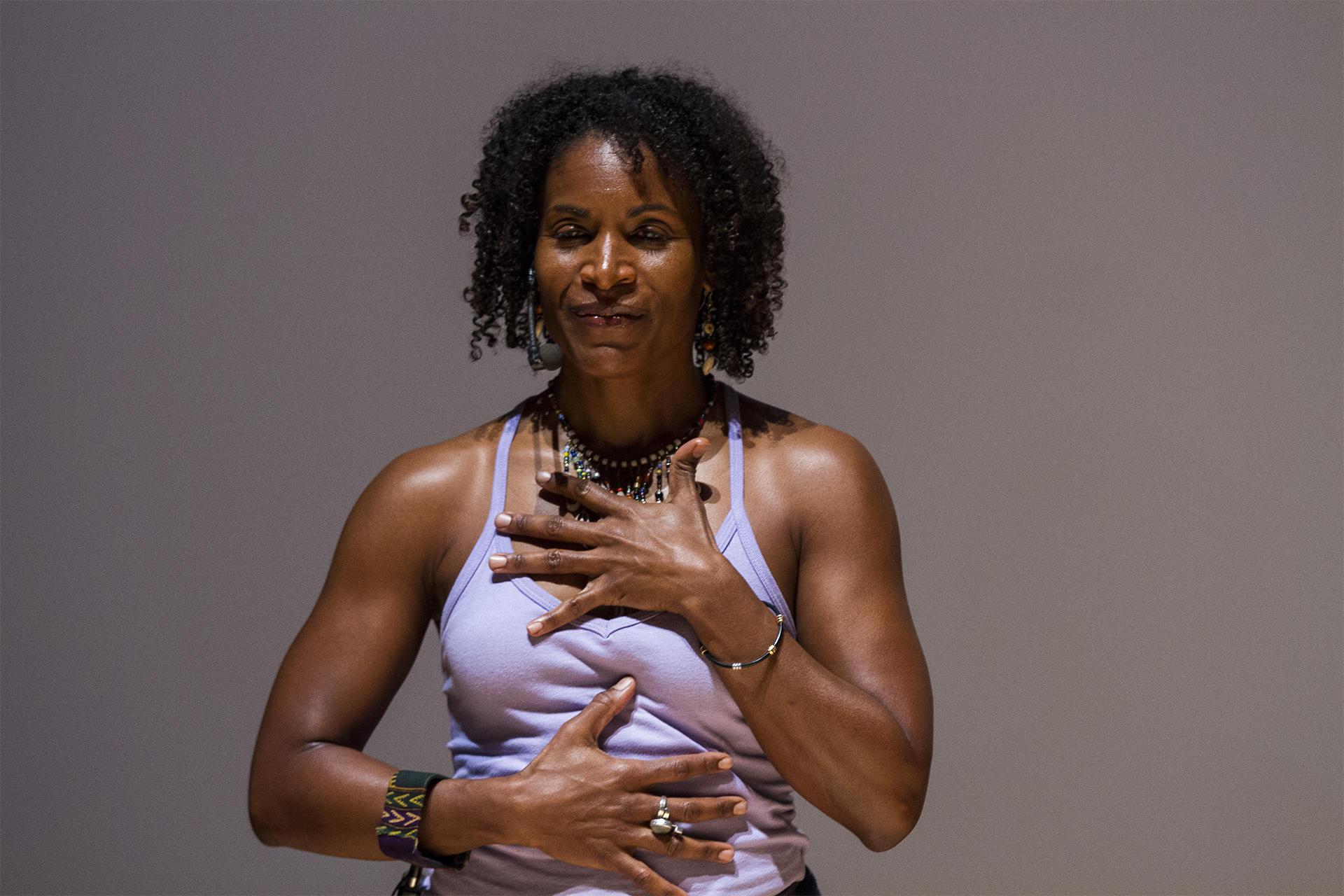 Leslie Salmon Jones of Afro Flow Yoga. Photo by Leonardo March.