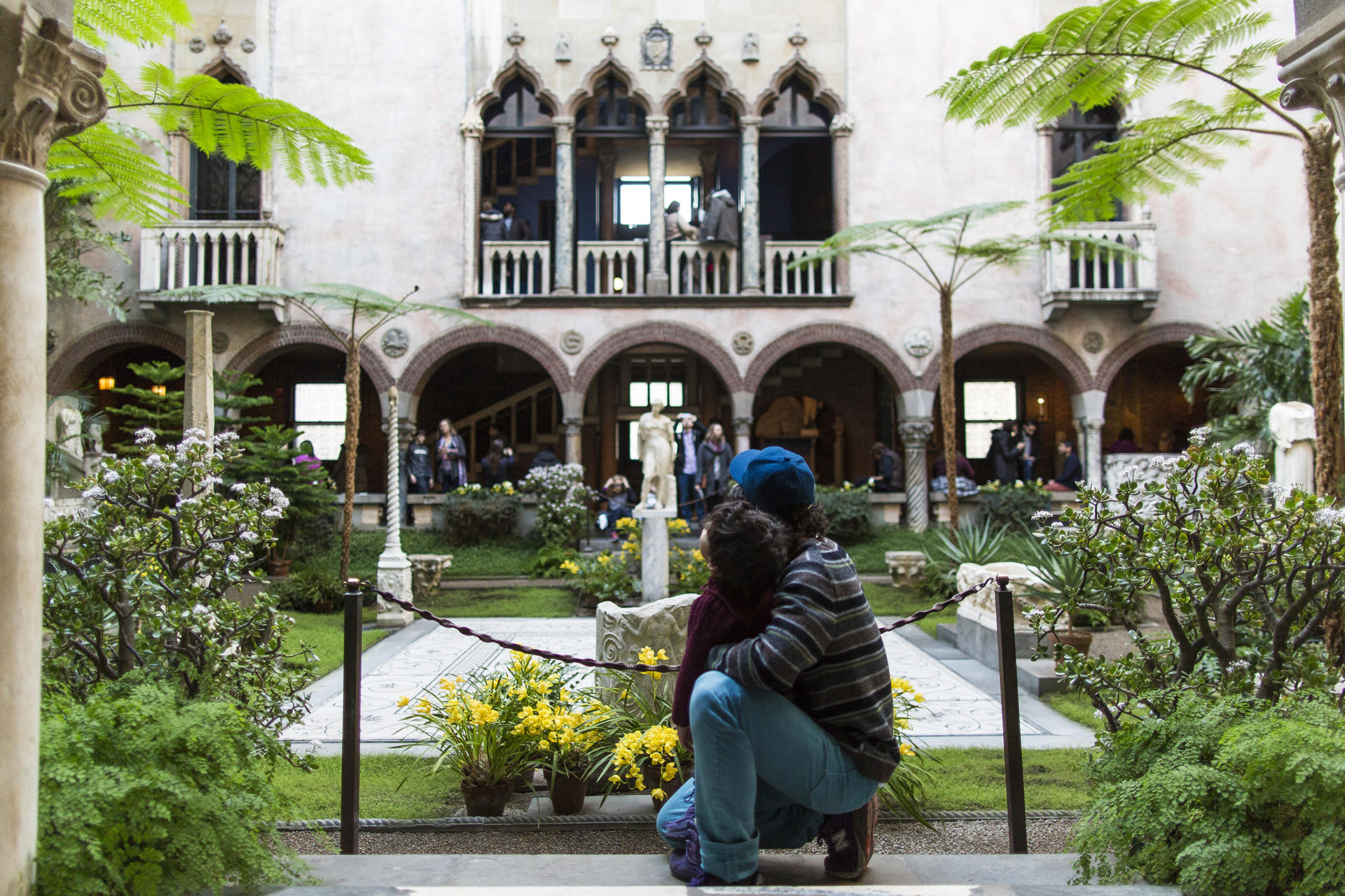 Visitors in the courtyard. Photo by Matt Teuten.