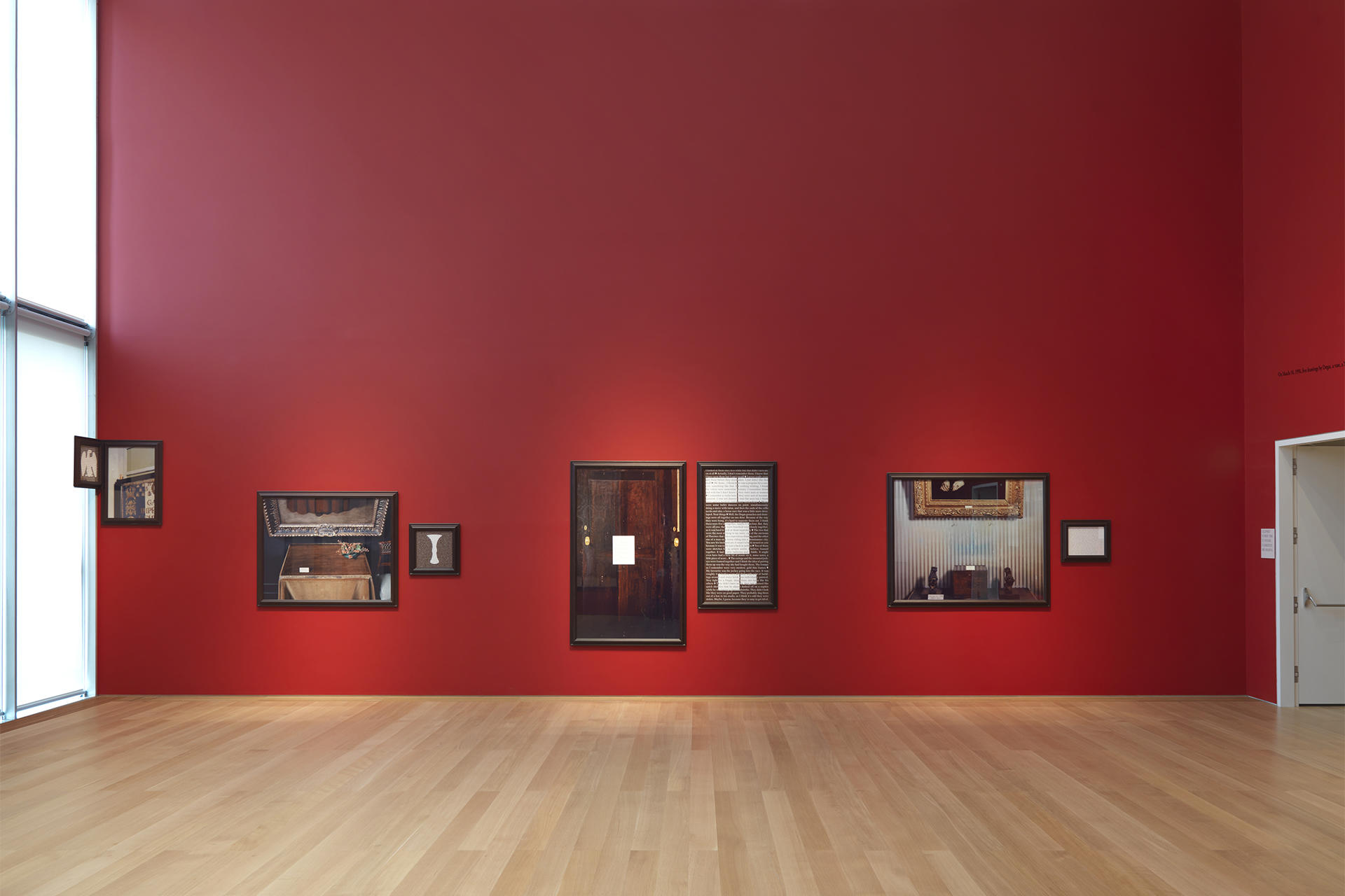 Sophie Calle: Last Seen…, installation view, ©1991 Sophie Calle / Artists Rights Society (ARS), New York / ADAGP, Paris. Courtesy of Sophie Calle, Paula Cooper Gallery, New York, and Isabella Stewart Gardner Museum, Boston.