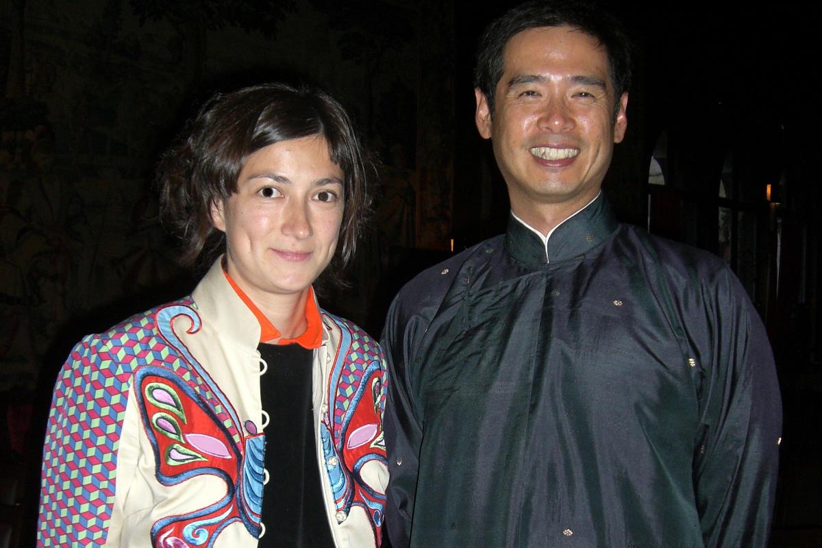 Su-Mei Tse and 1999 AIR Lee Mingwei following their talk at the Gardner Museum, 2007.