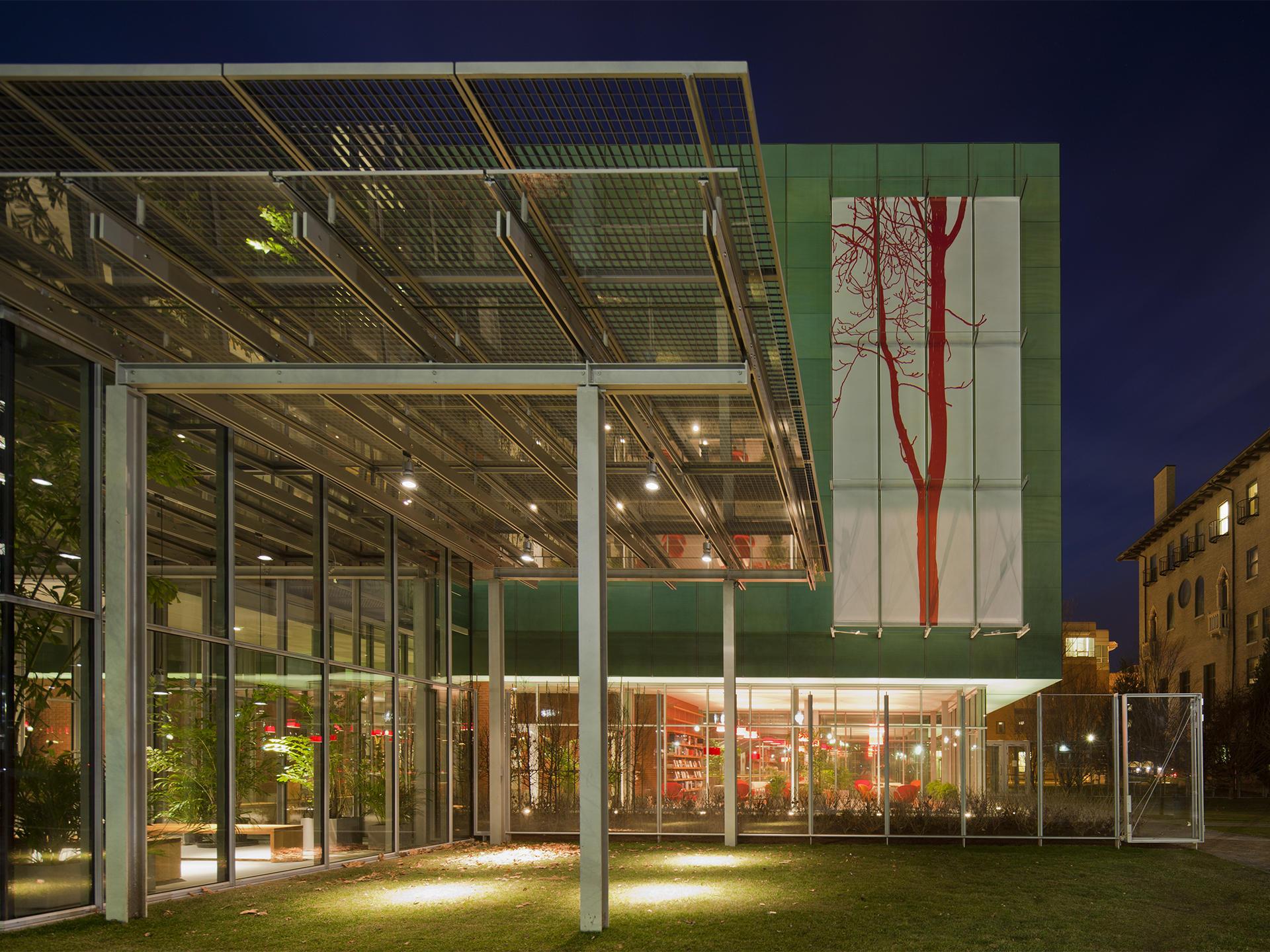Arienti's Ailanthus façade piece, 2012