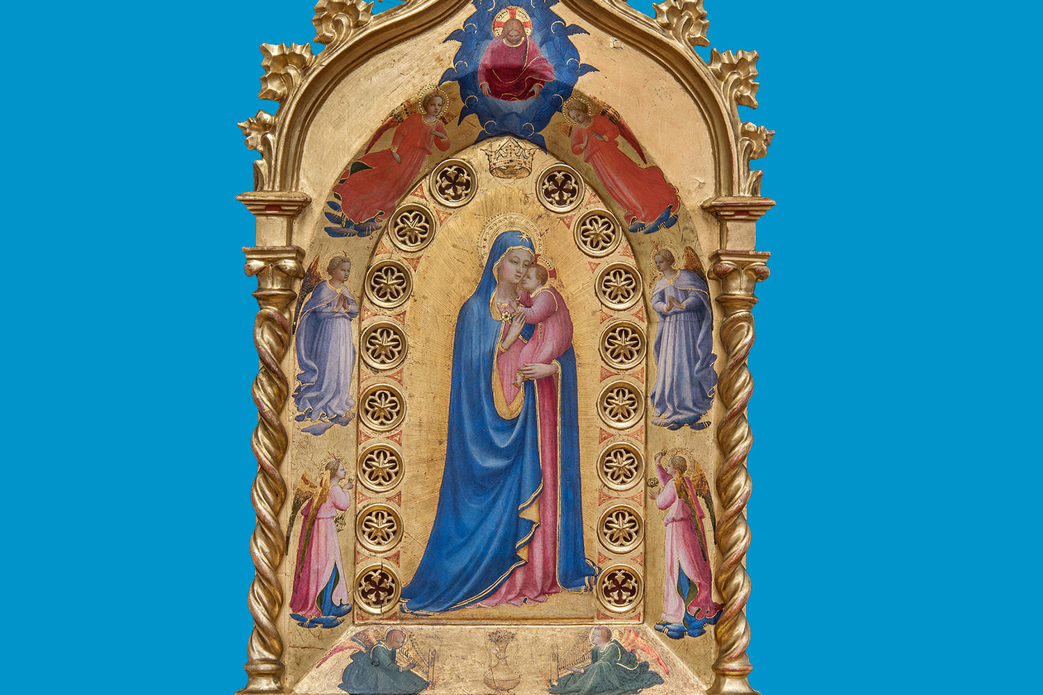 Fra Angelico (Italian, about 1400 - 1455), The Madonna della Stella, 1424-1434. Tempera with oil glazes and gold on panel, 87 x 51.8 cm (34 1/4 x 20 3/8 in.) Museo di San Marco, Florence – Polo Museale della Toscana
