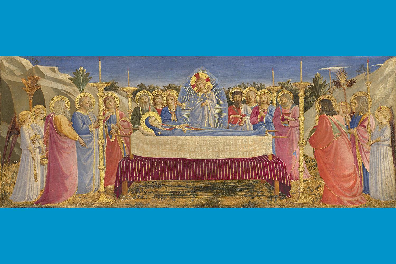 Fra Angelico (Italian, about 1400 - 1455), The Dormition of the Virgin, 1431-1435. On panel, 19 x 50 cm (7 1/2 x 19 11/16 in.) Museo di San Marco, Florence – Polo Museale della Toscana. Photo: Scala/Ministero per i Beni e le Attività culturali / Art Resource, NY