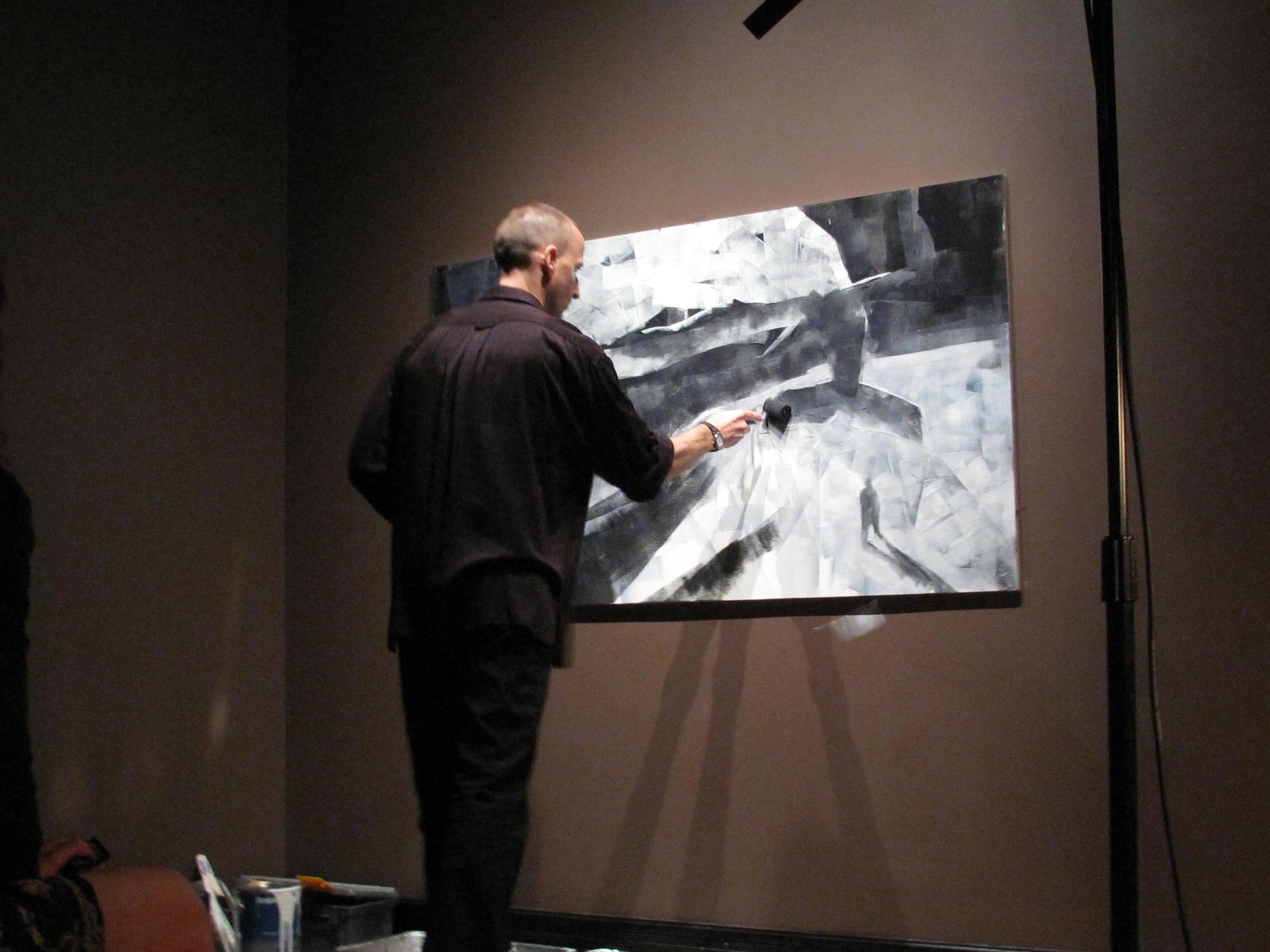 Danijel Žeželj, Once, a live painting and music performance, 2010.