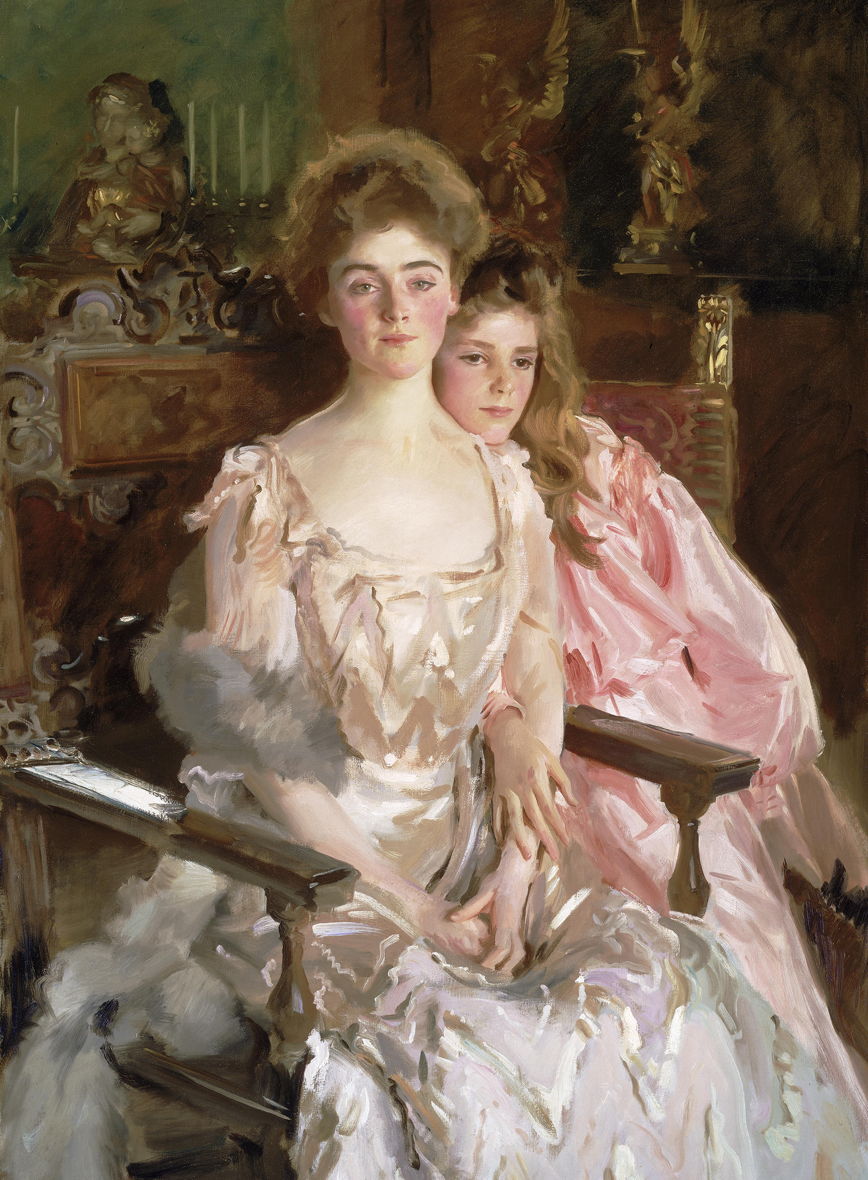 John Singer Sargent (American, 1856-1925), Mrs. Fiske Warren and Her Daughter Rachel, 1903.