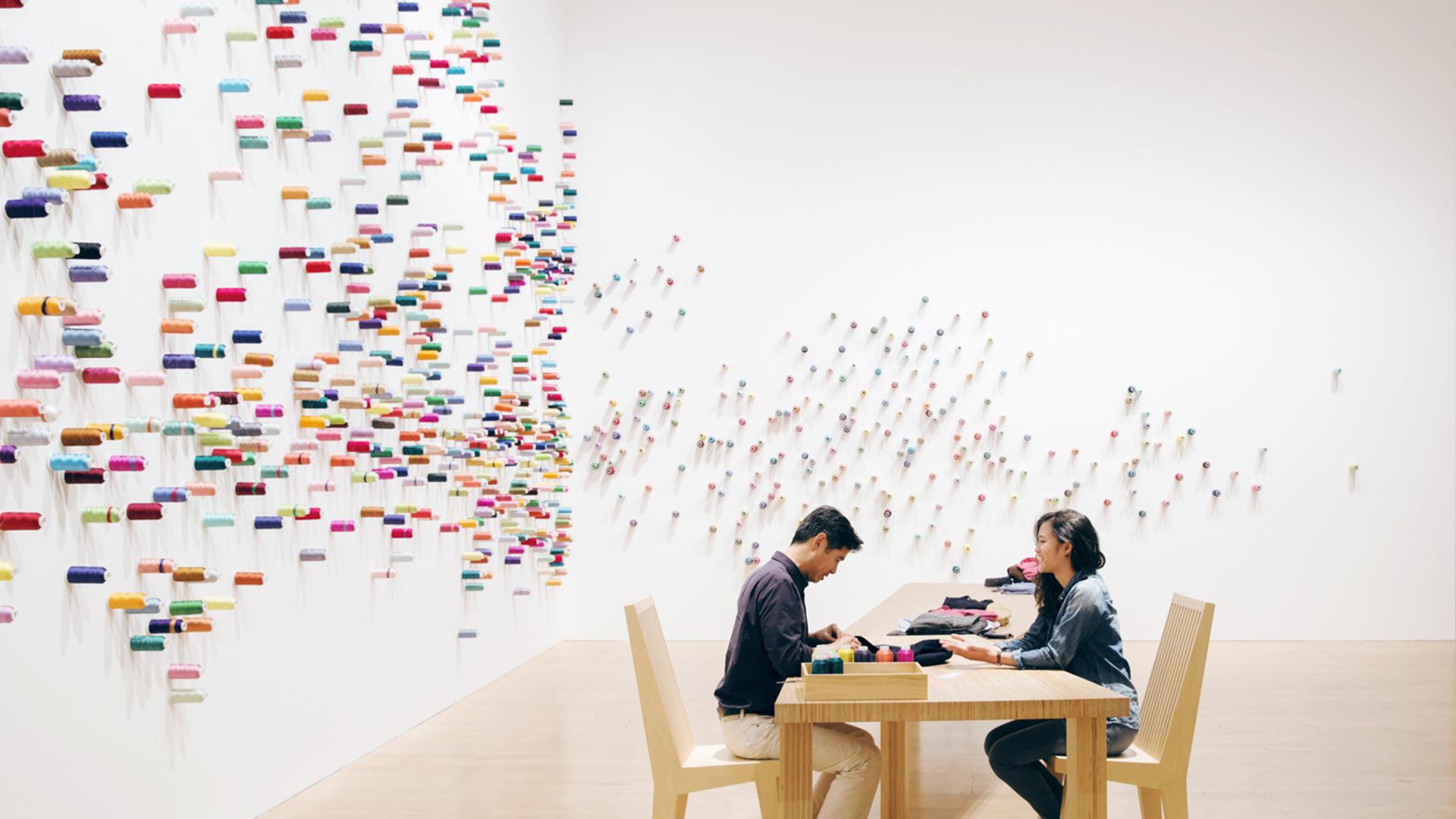 Lee Mingwei (Chinese), The Mending Project, 2009-2018. Photo by Yoshitsugu Fuminari.