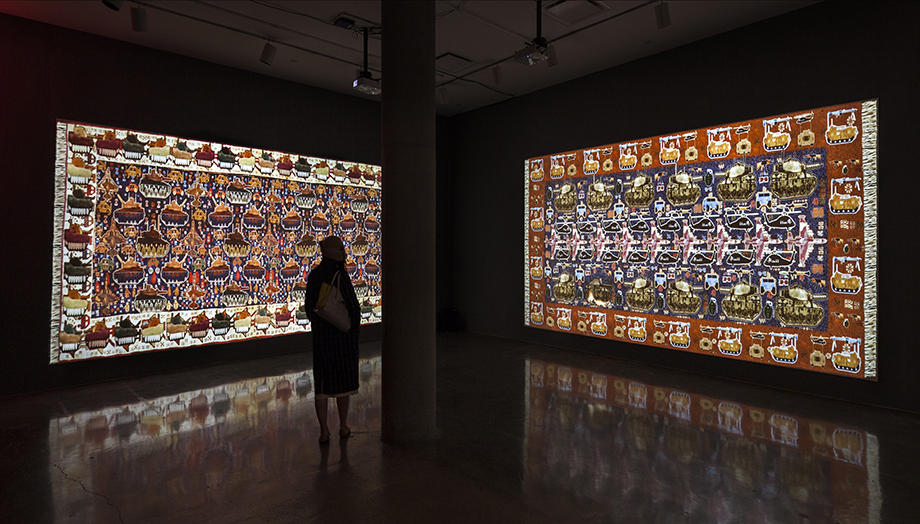 Nevet Yitzhak (Israeli), WarCraft (detail), 2014. Photo by Thomas Seely / Yossi Milo Gallery, New York.