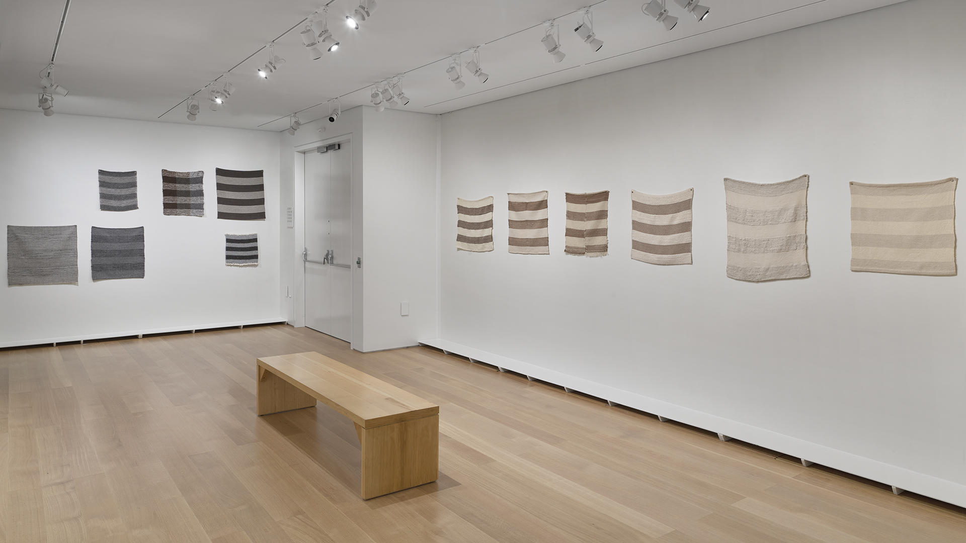 Photo by Stewart Clements. Standard Incomparable (partial), organized by Helen Mirra, 2015-2016. Installation view: Common Threads: Weaving Stories Across Time, Isabella Stewart Gardner Museum, Boston.