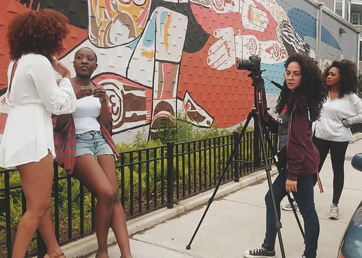 Paloma Valenzuela filming The Latin Quarter