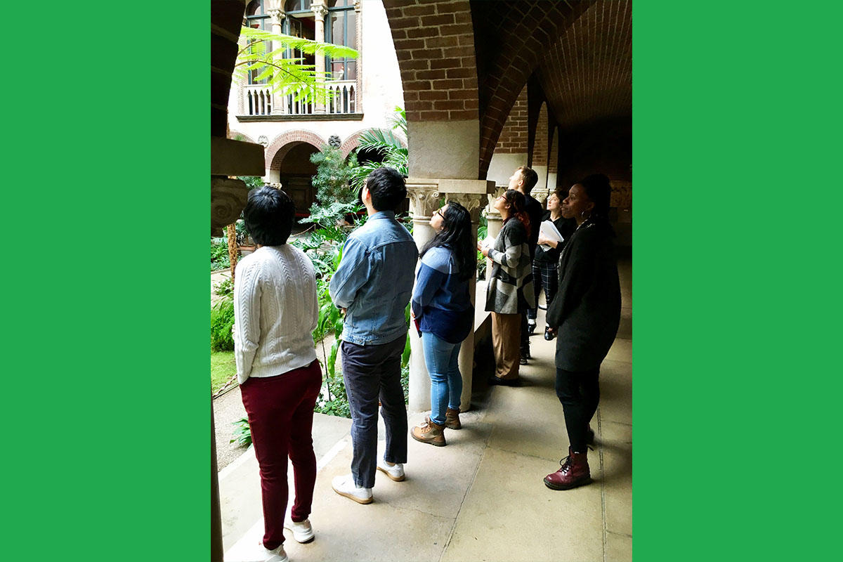 Olin College Students on a tour of the Museum with Rhea Vedro, Director of Community Engagement