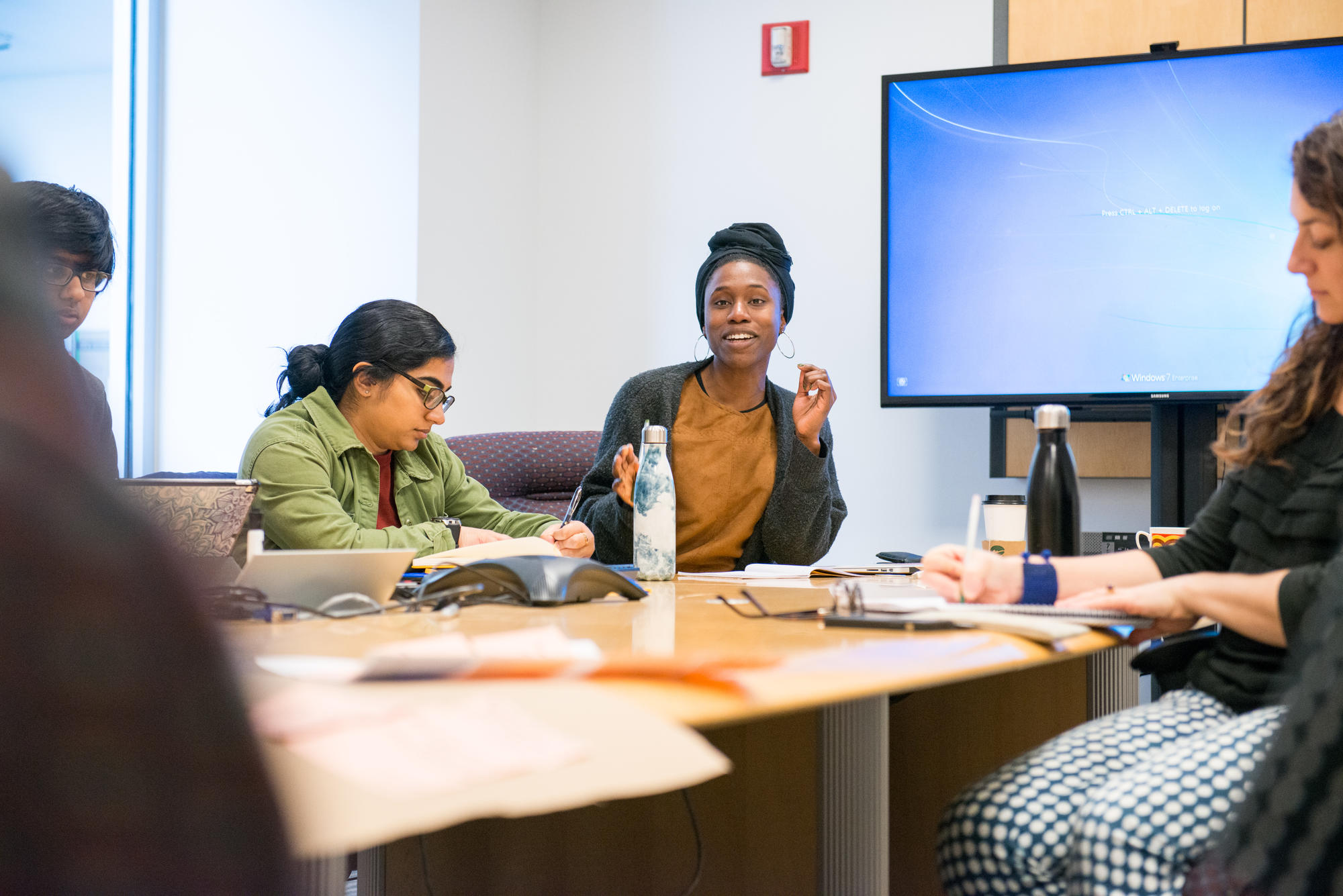 Olin College Academic Advisor Mimi Onuoha leads a class discussion about Map This.