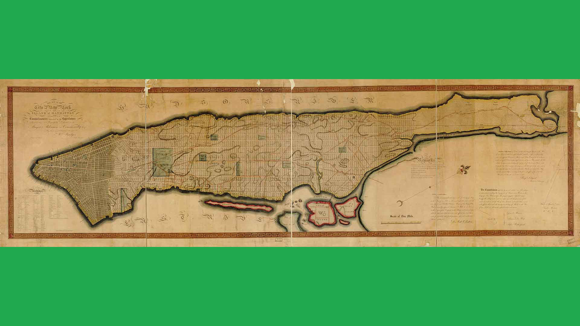William Bridges and Peter Maverick, Map of the City of New York and Island of Manhattan, 1811