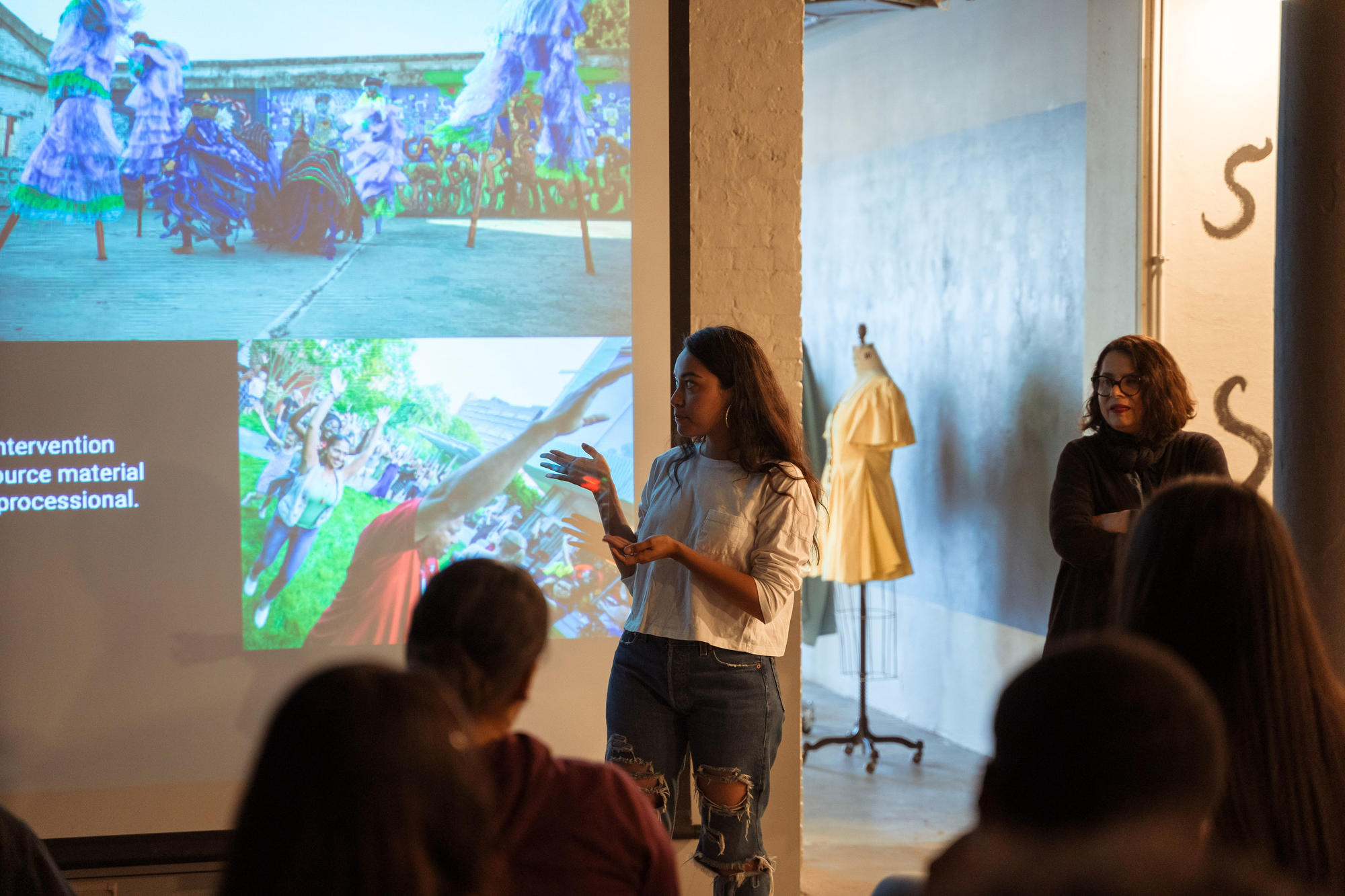 Nathalia JMag launches the Map This workshop at Urbano Project. Photo by Faizal Westcott, June 2019.