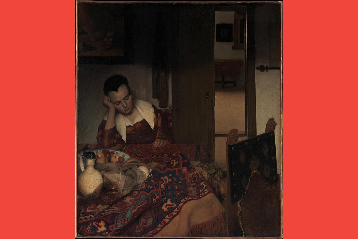 Johannes Vermeer (Dutch, 1632-75), A Maid Asleep, 1656-57. Photo courtesy Metropolitan Museum of Art, New York.