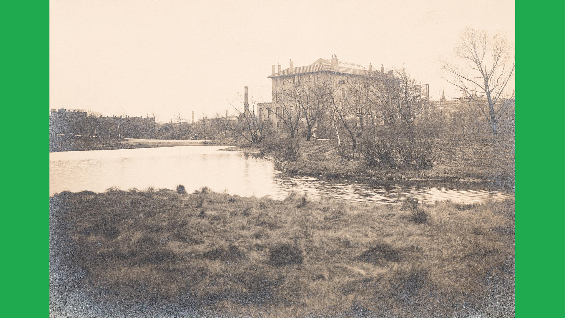 Photographer Unknown, Fenway Court from the Fens, about 1905, courtesy Isabella Stewart Gardner Museum