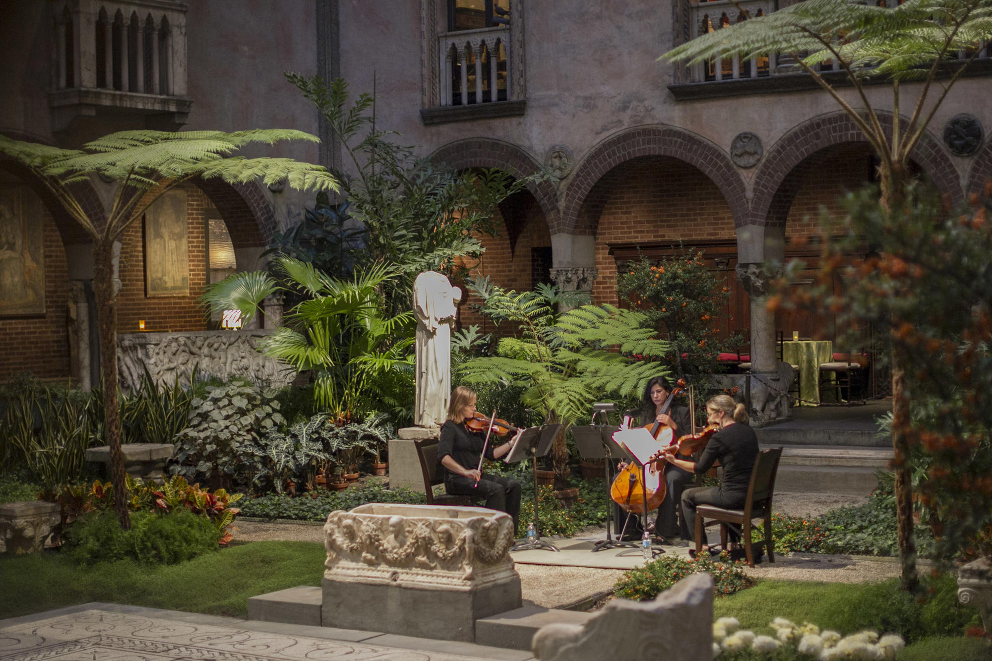 Musicians in the Courtyard, photo by Matt Teuten