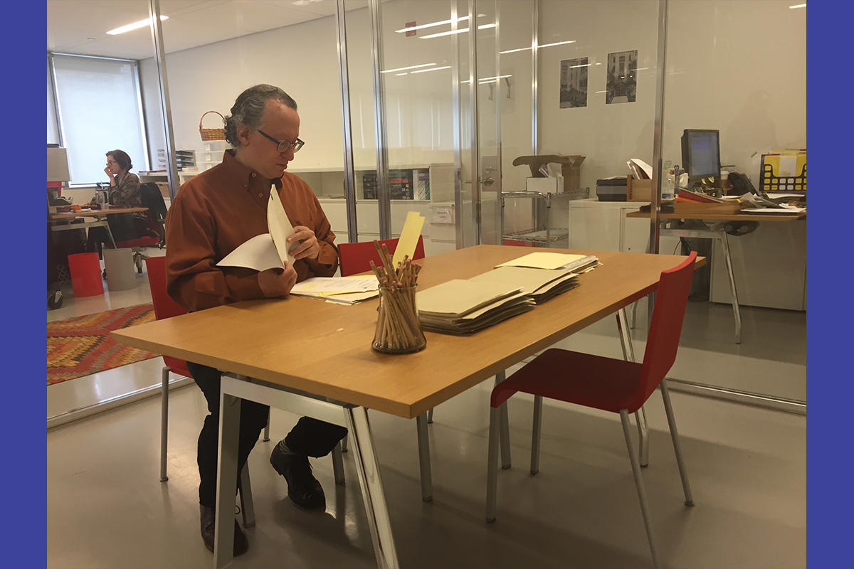 Barry Schwabsky in the Archives Reading Room