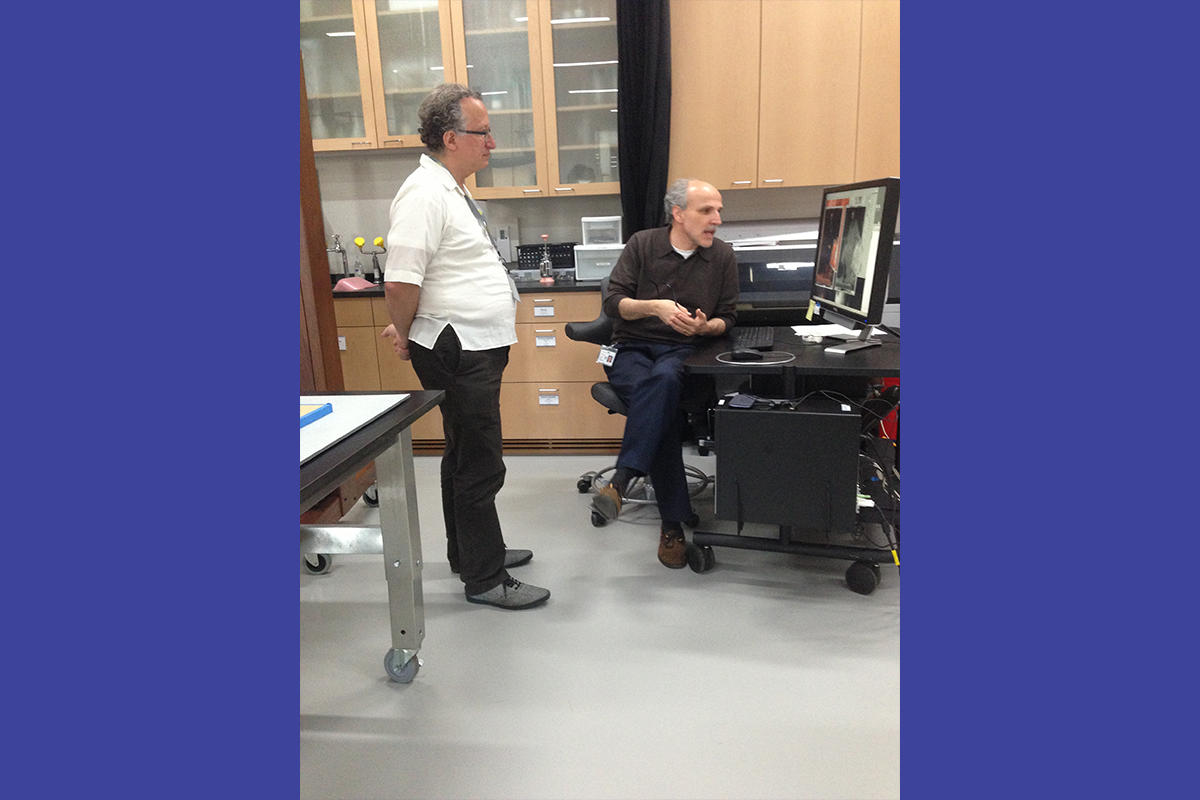 Barry Schwabsky in the Conservation Lab