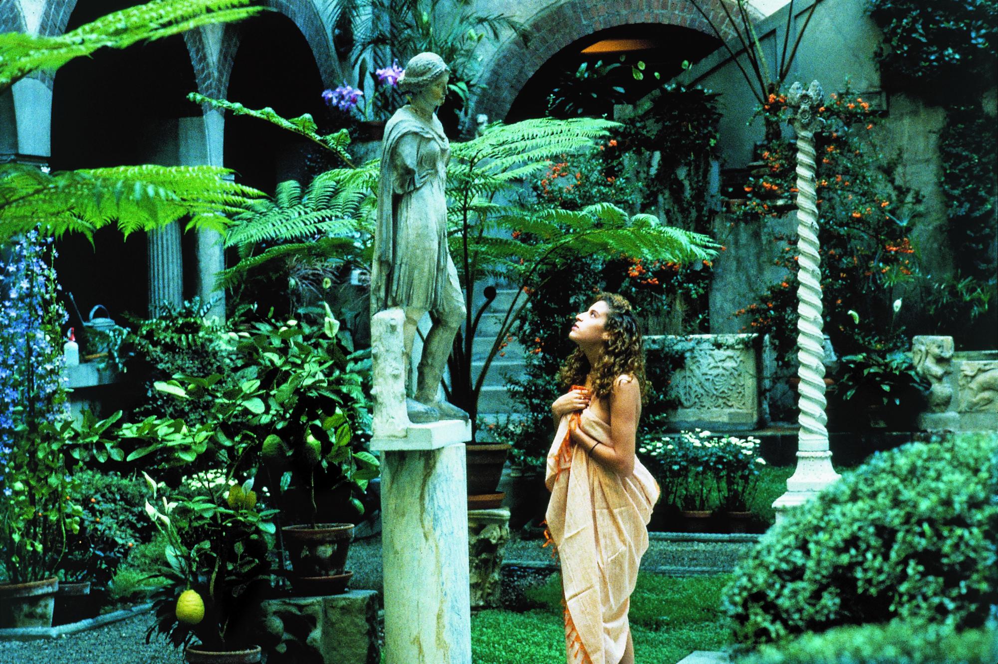 Dorit Cypis, Madeline in Garden, 1993, Courtyard, Isabella Stewart Gardner Museum, Boston.