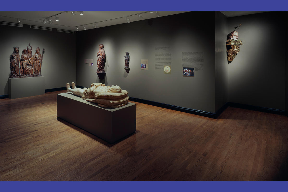 Installation of Sculpture and Memory: Works from the Gardner and by Luigi Ontani, 2007.