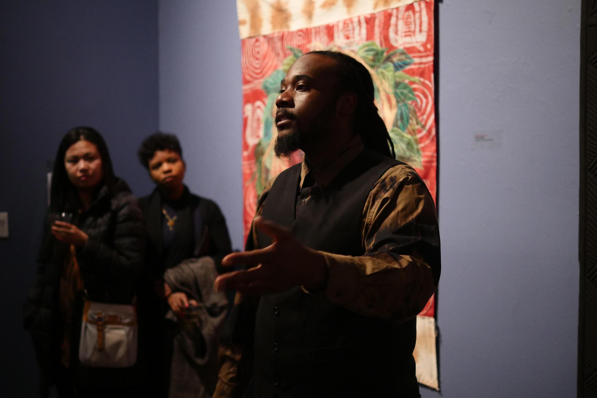 Stephen Hamilton, Visiting Studio Artist. Photo by Chanel Matsunami Govereau.